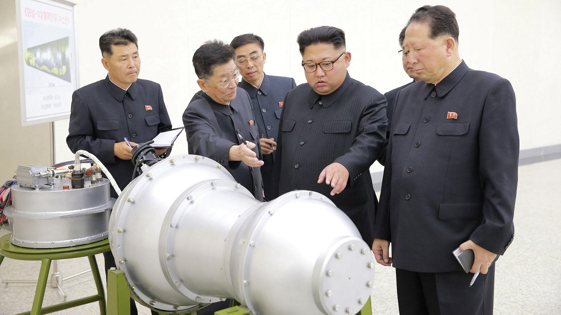 Kim Jong-un encabezó el último ensayo nuclear de Corea del Norte
