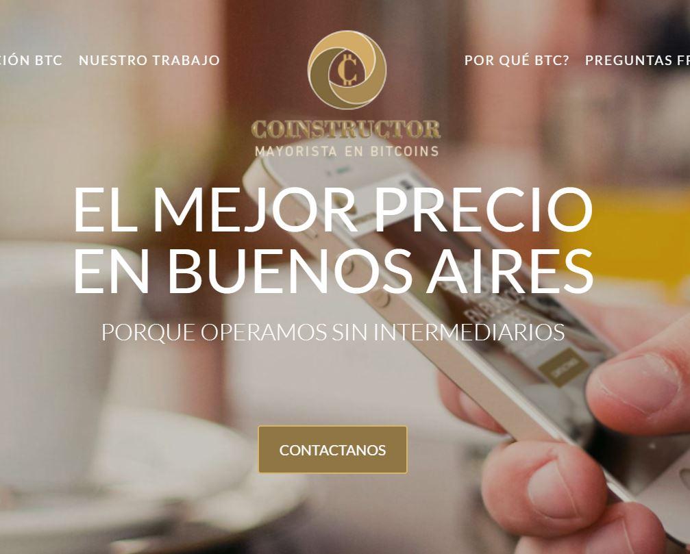 Coinstructor, el sitio de García en donde ofrece comerciar en bitcoins.