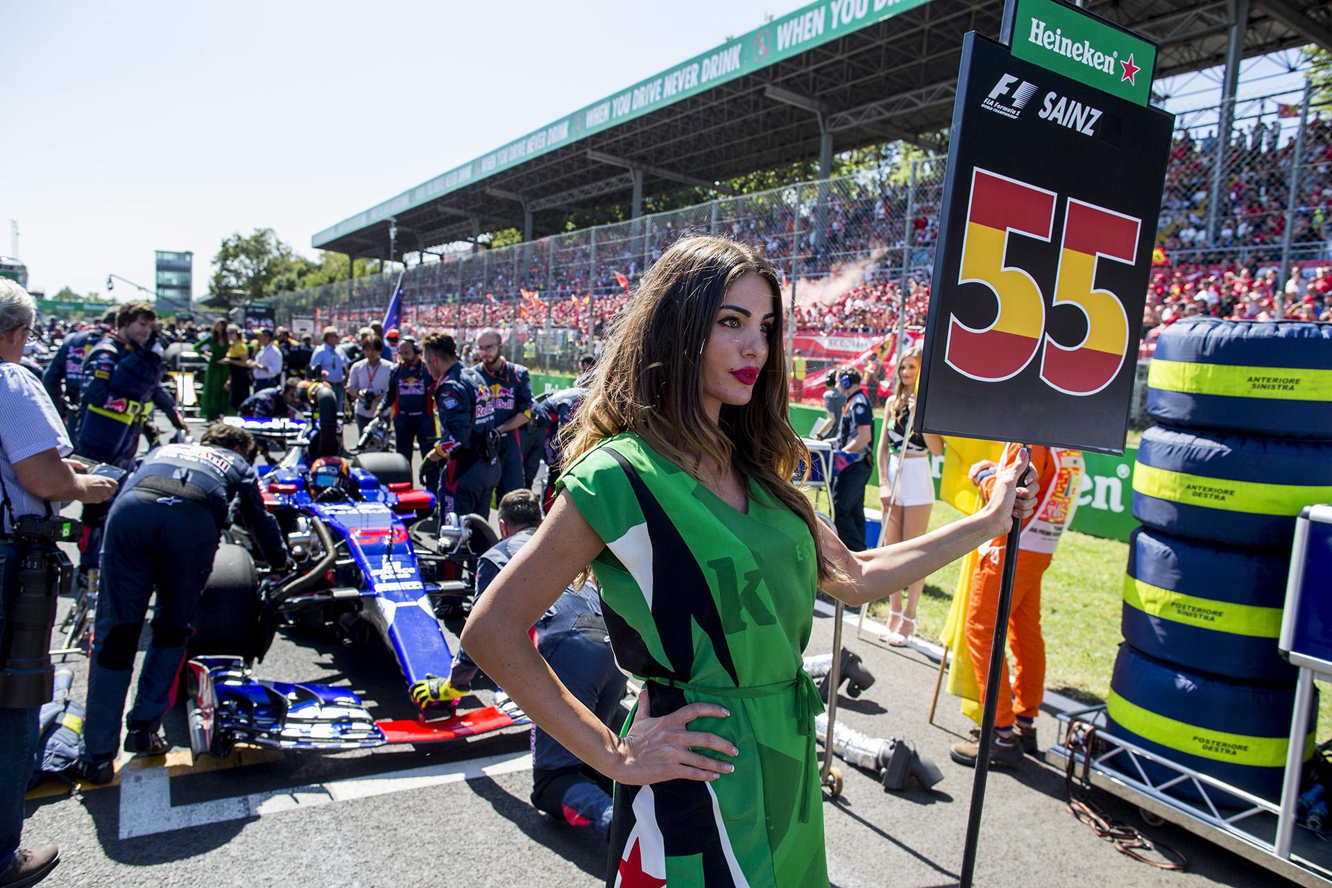Las chicas, presentes en Monza