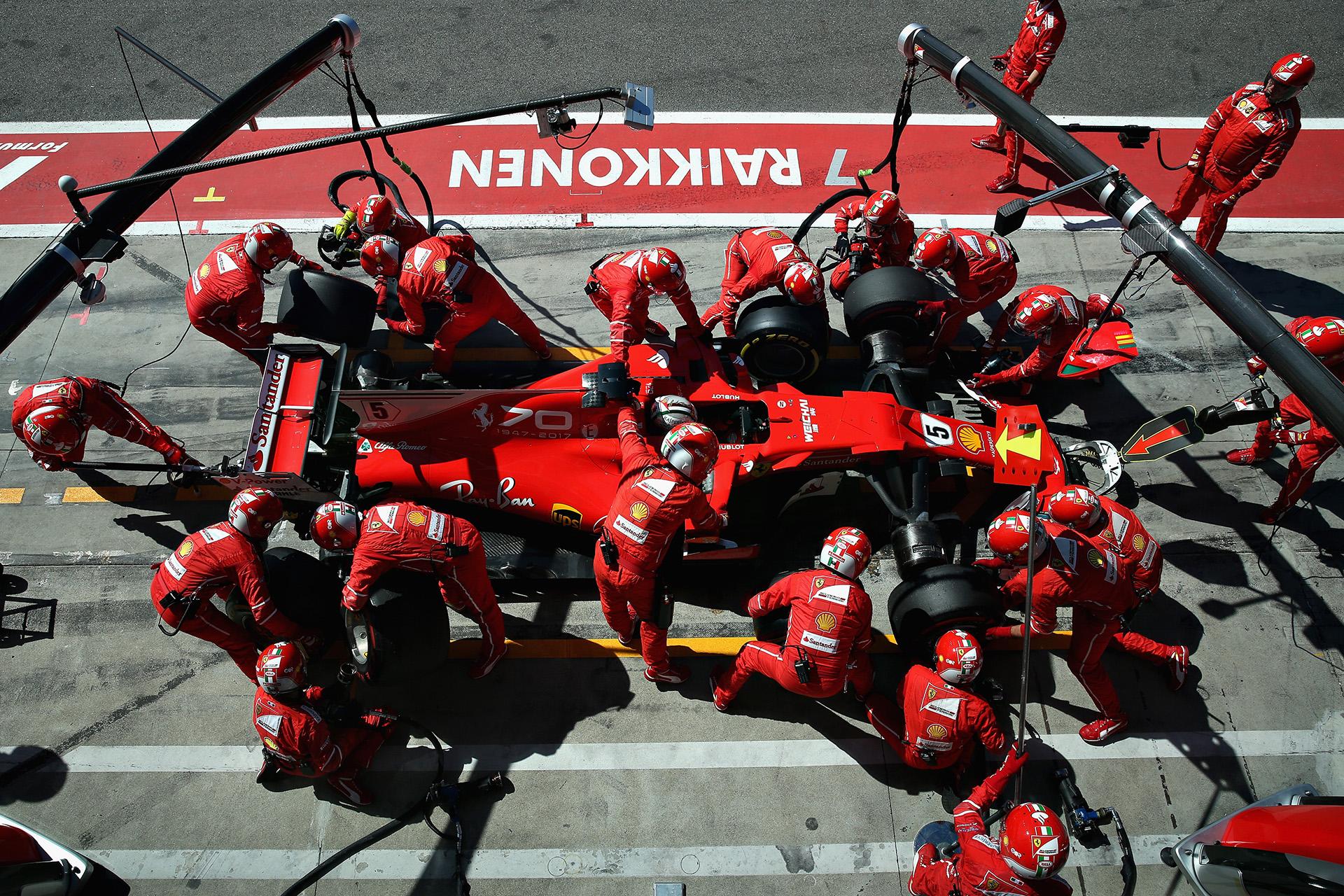 Sebastian Vettel, de Ferrari, fue tercero