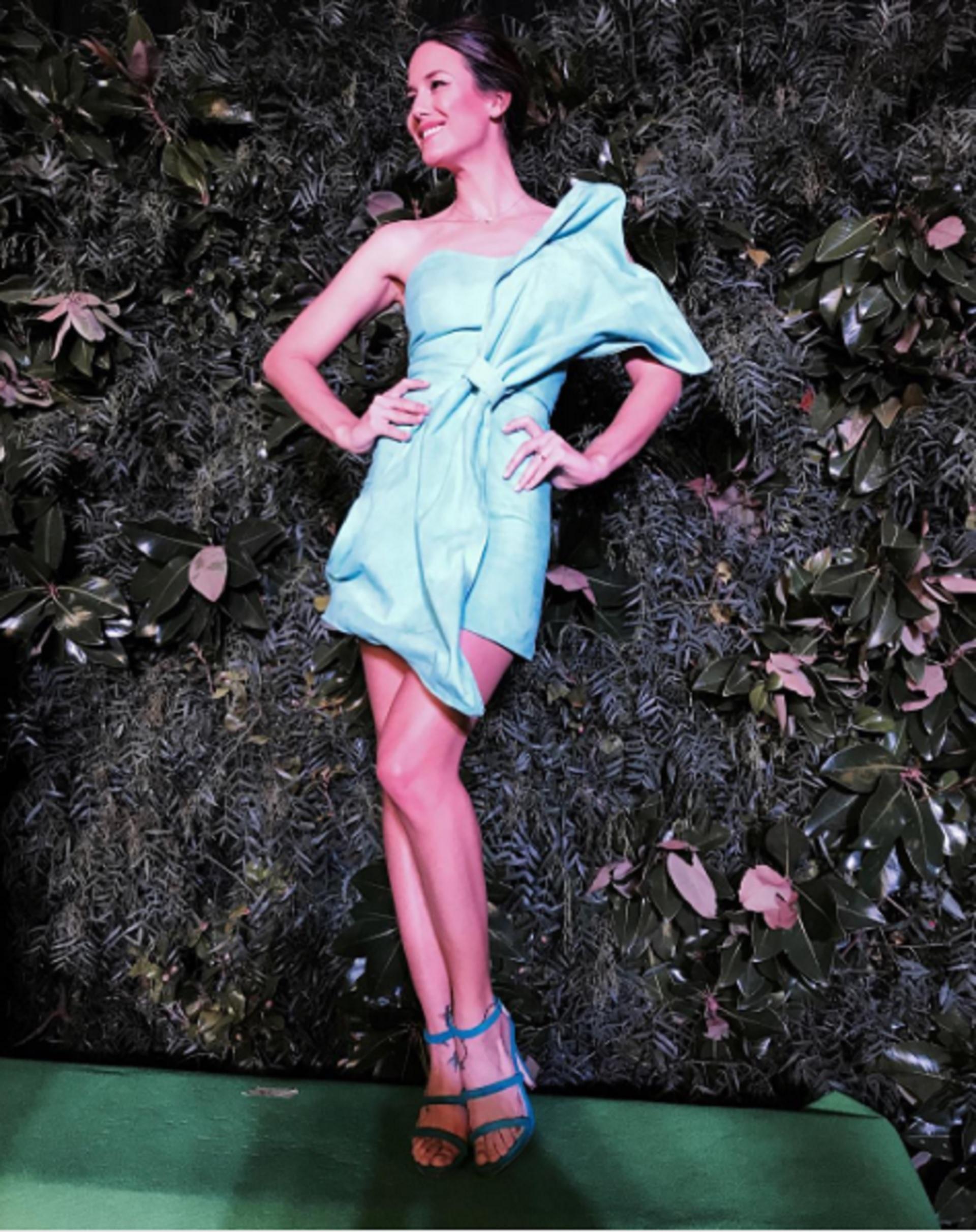 Luli Fernández: Vestido Santiago Artemis, Zapatos Ricky Zarkany, Peinado y maquillake Juanma Cativa