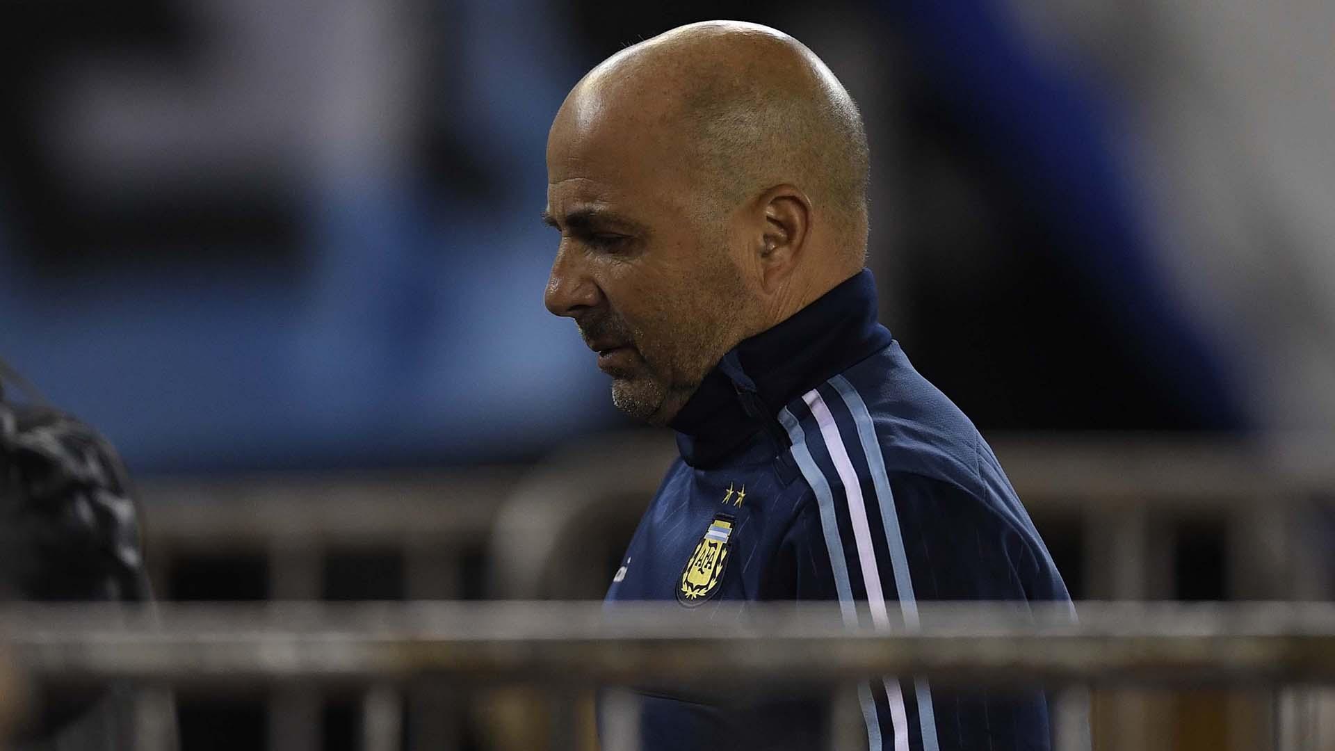 El entrenador brindó una conferencia de prensa al finalizar el partido contra Venezuela (Télam)