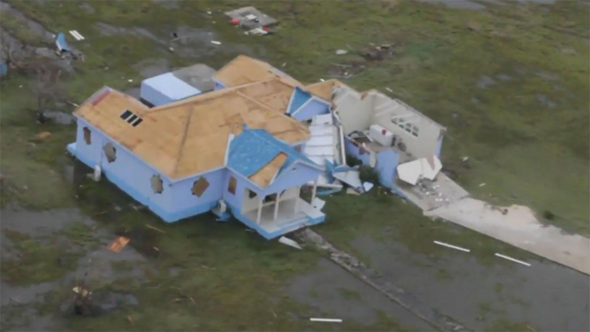 Destrucción en Barbuda