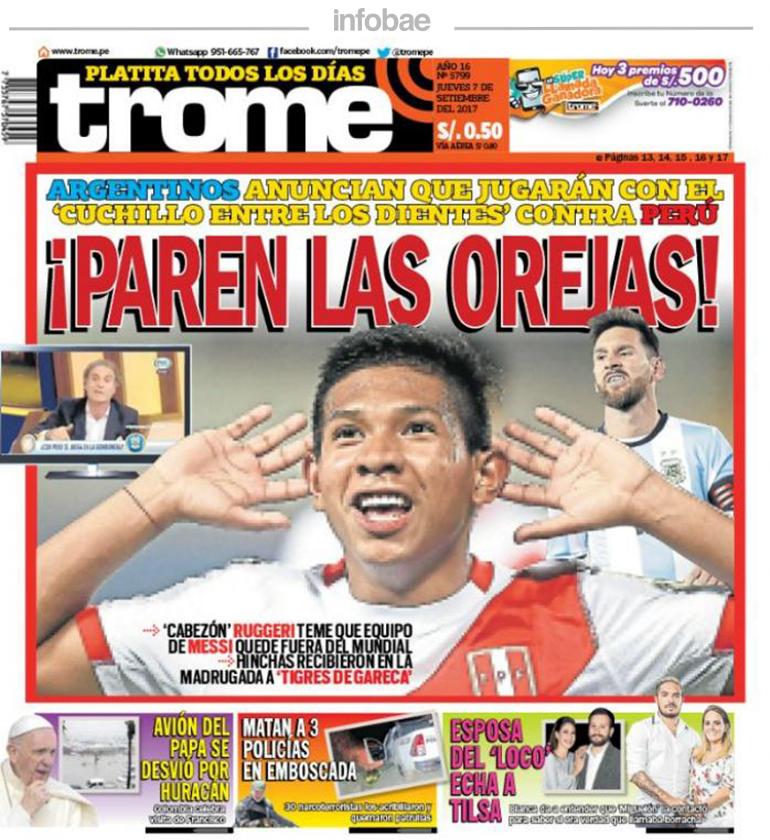 Trome Perú Jueves 07 De Septiembre De 2017 Junín Al Minuto