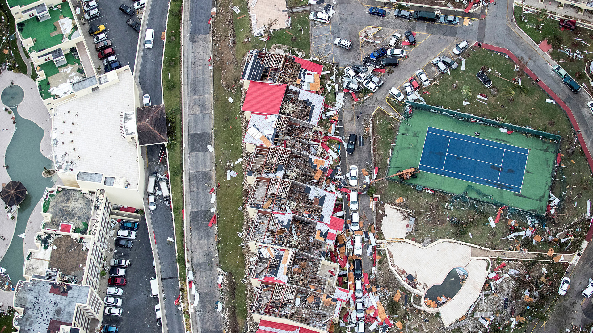 Secuelas del huracán Irma en la parte holandesa de la isla de San Martín en el Caribe (Reuters)