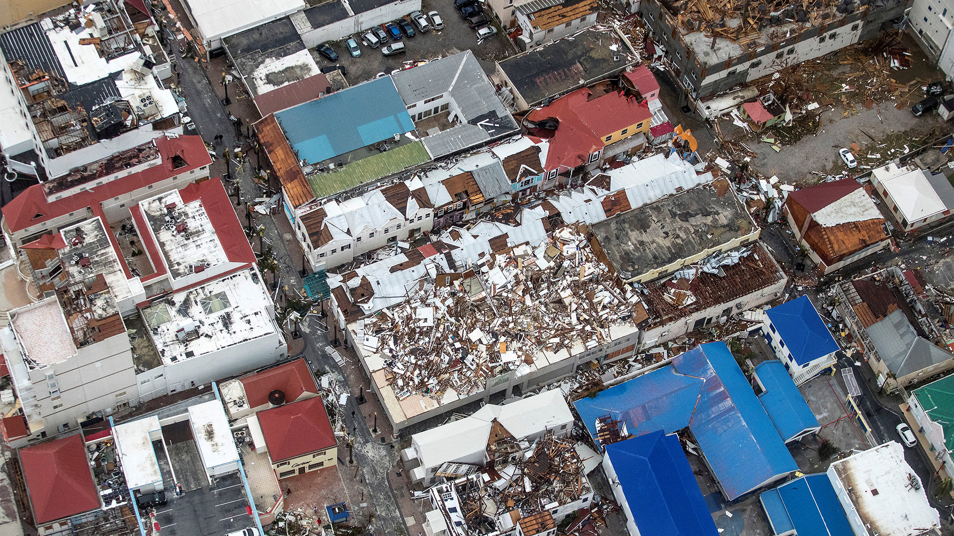 La parte holandesa de la isla San Martín tras el paso de Irma (Reuters)