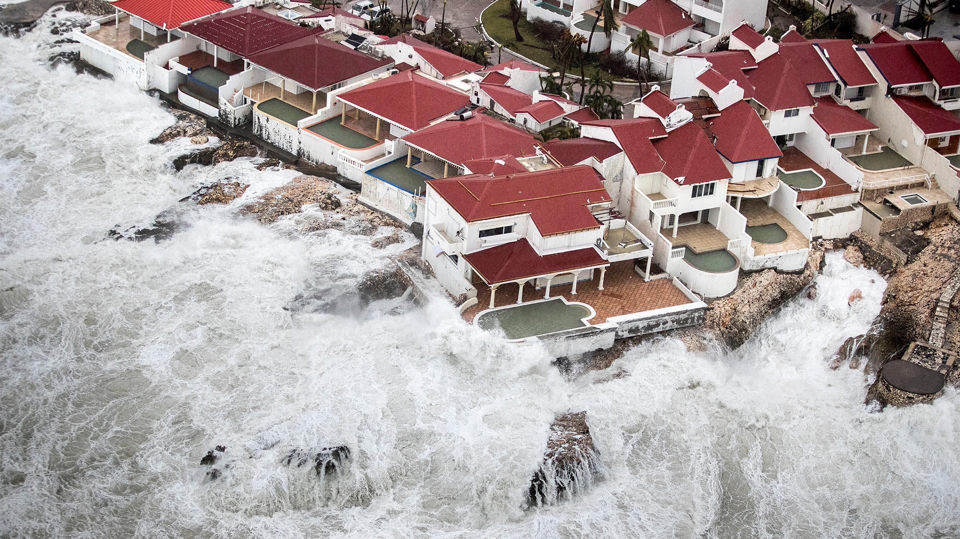 Así quedó la parte holandesa de la isla St. Martin tras el paso de Irma (Reuters)