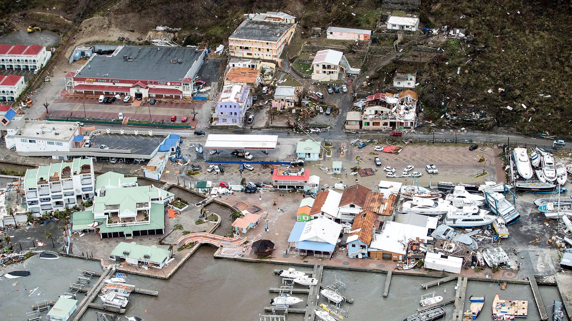 El paso de Irma causó destrozos (Reuters)