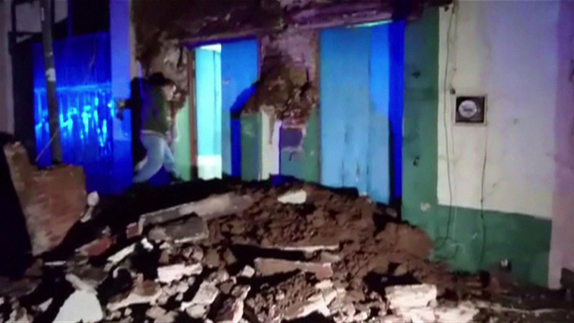 El centro deOaxaca quedó muy afectado por el terremoto de 8,2puntos. (AFP/AFPTV/Oscar García)