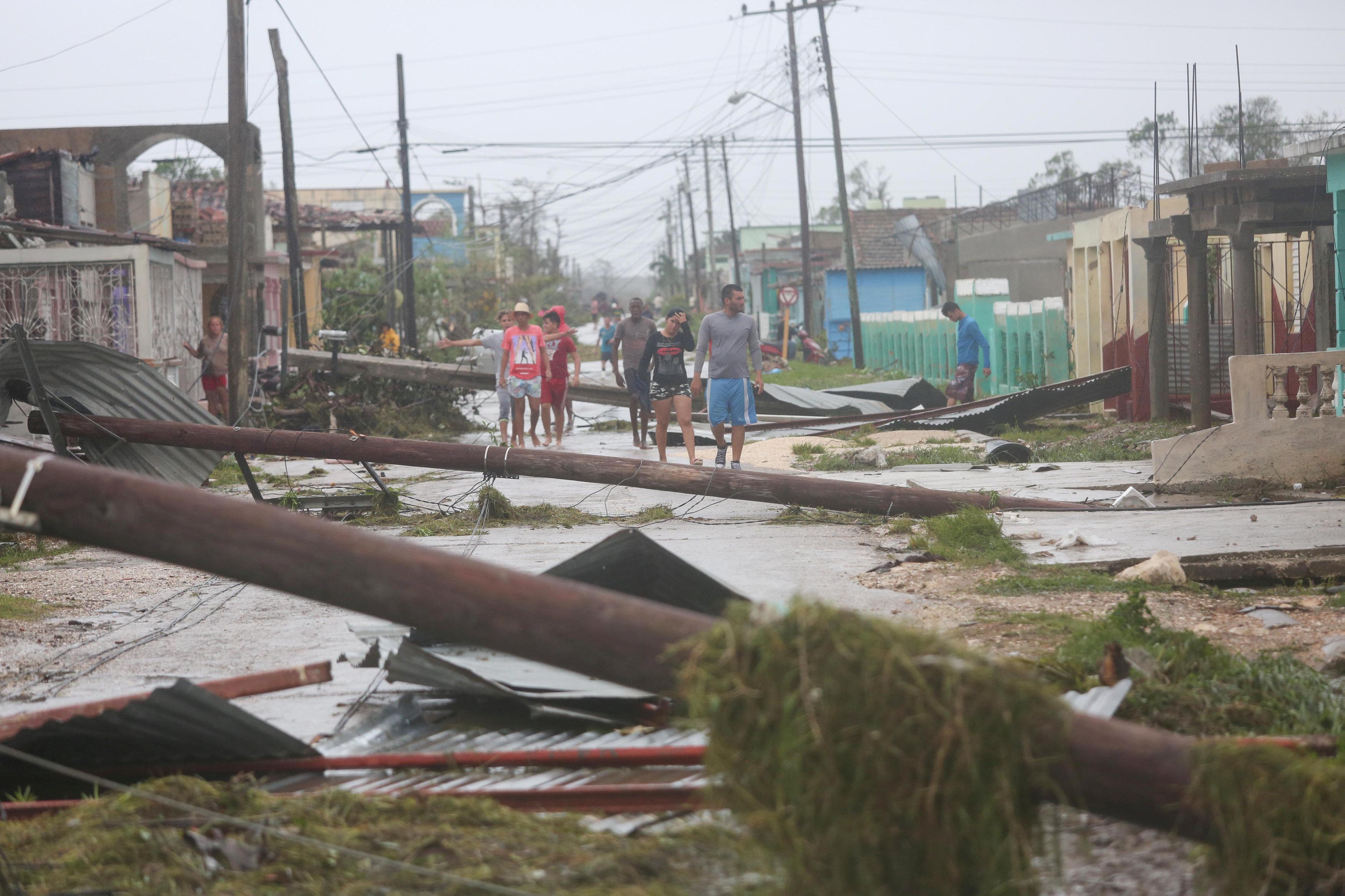 Destrozos en Caibarien, Cuba (Reuters)