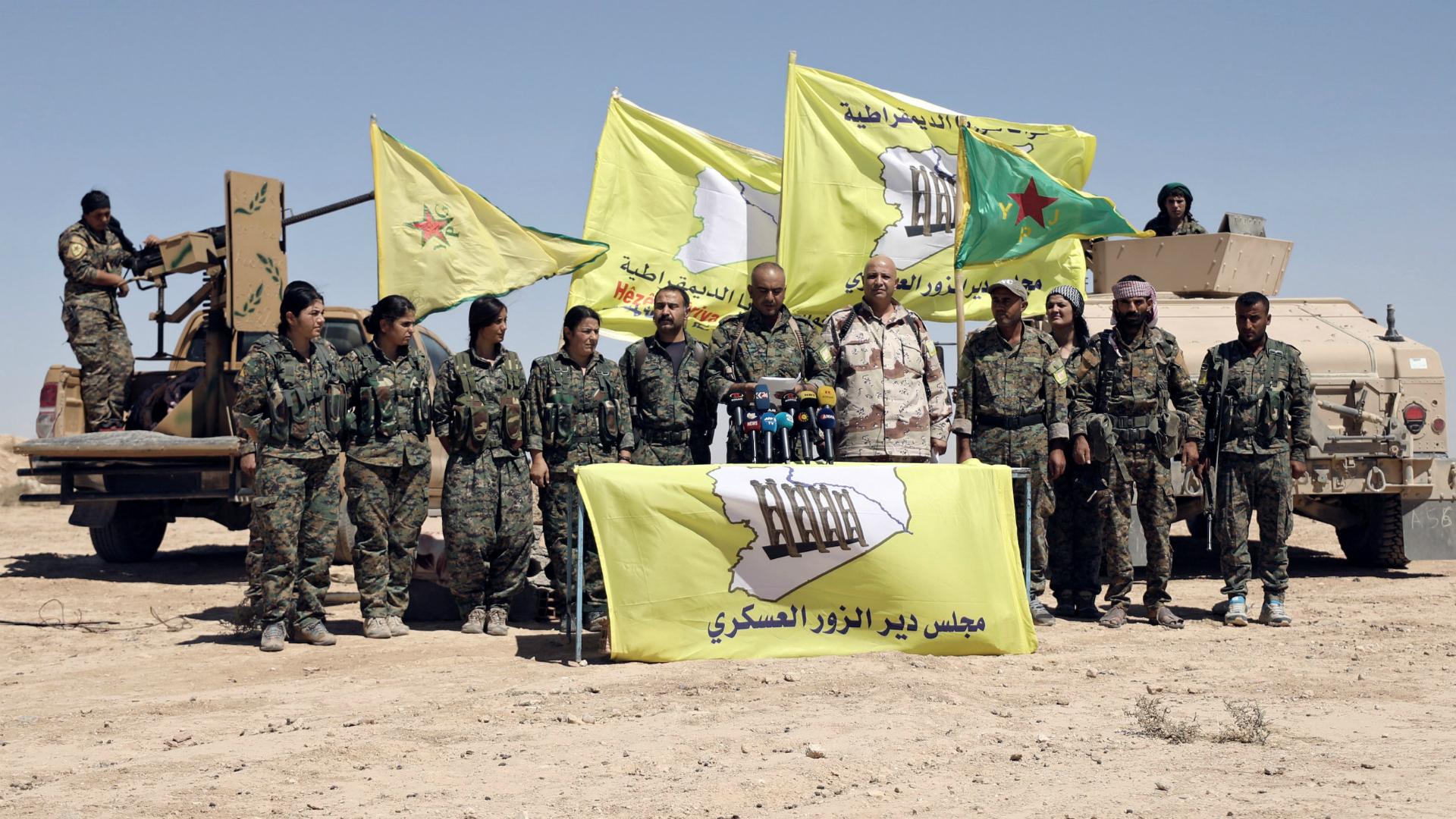 Milicas kurdas en Siria (Reuters)