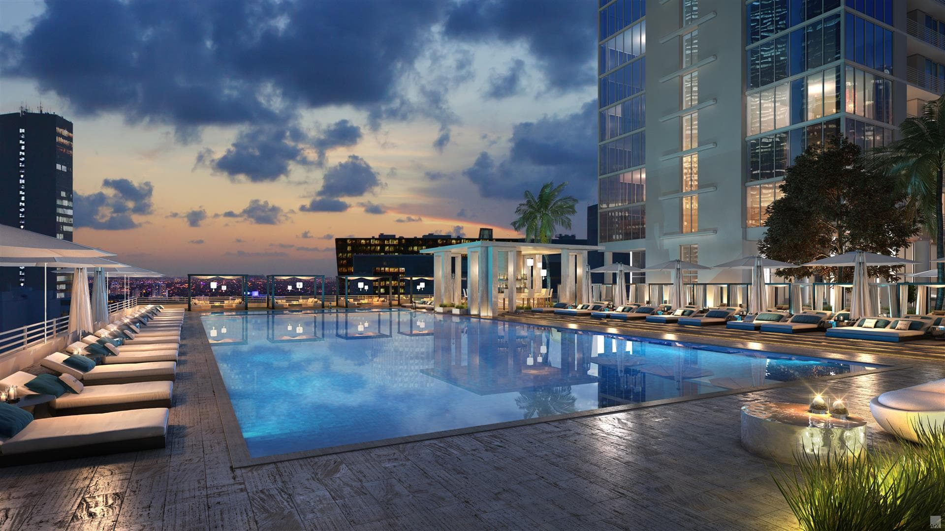 """El edificio está """"repleto"""" de áreas comunes, señalaron los desarrolladores (Property Markets Group)"""