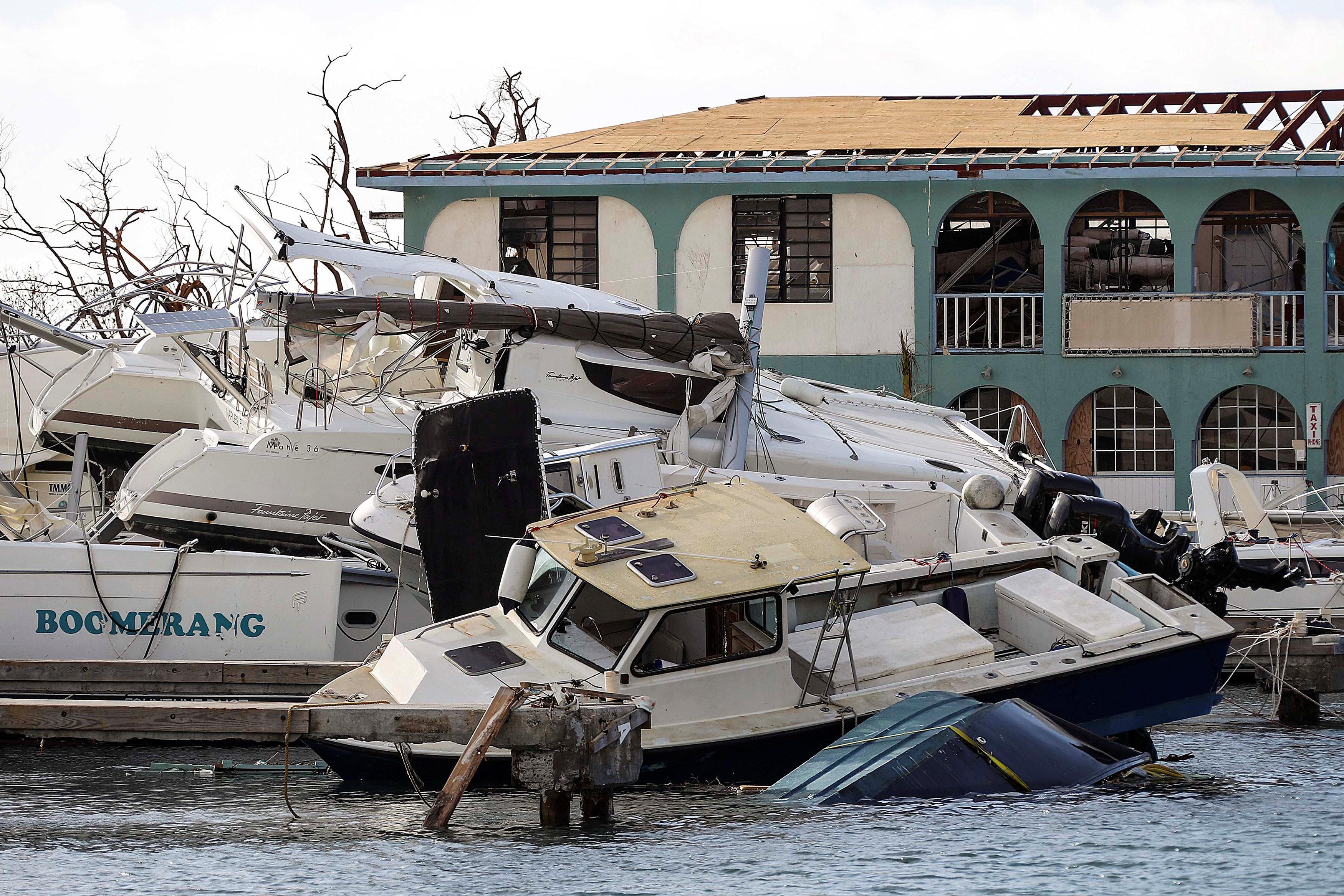 Daños tras el pase de Irma en Tortola, en las islas Vírgenes Británicas (Reuters)