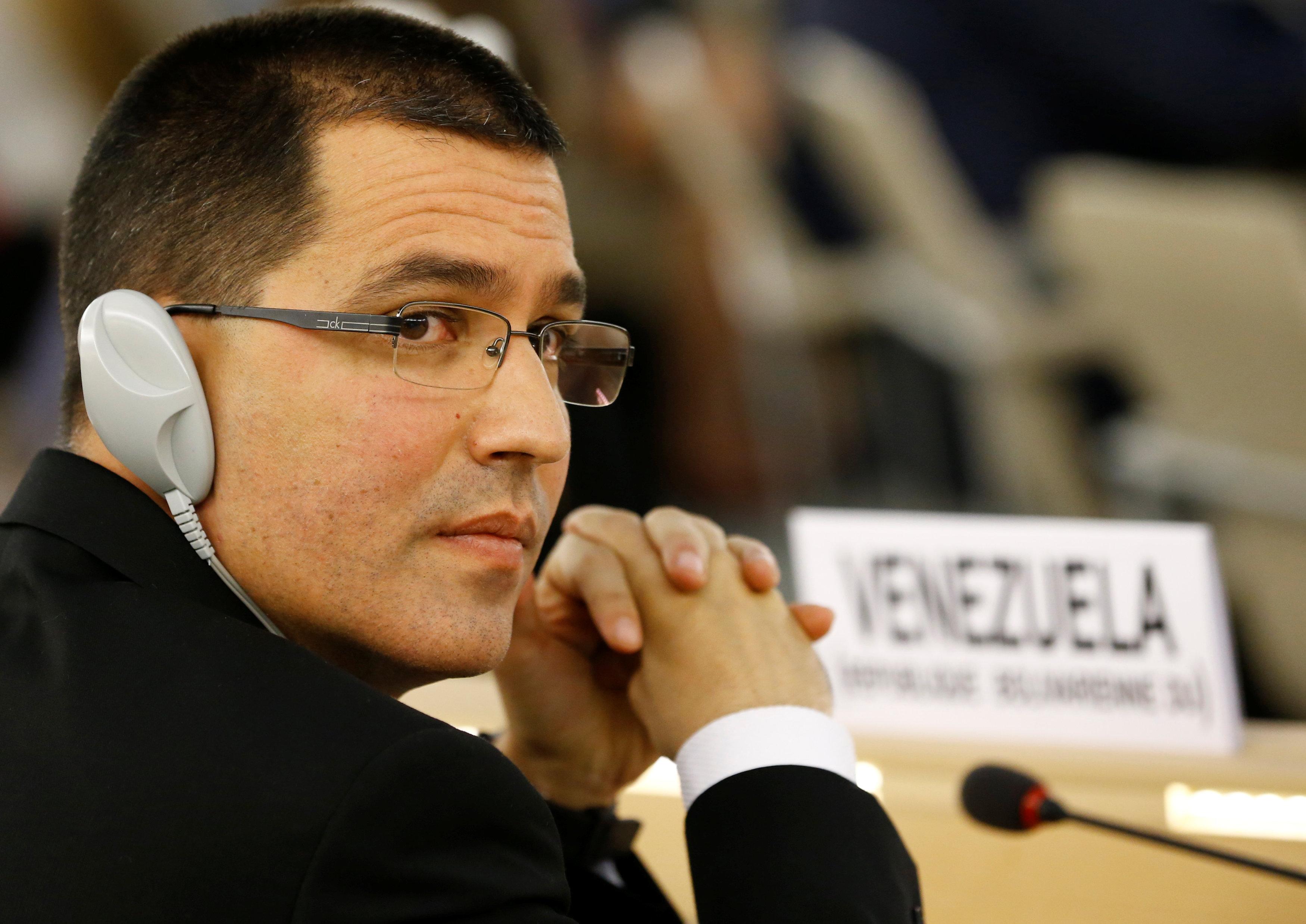 El canciller venezolano Jorge Arreaza (Reuters)