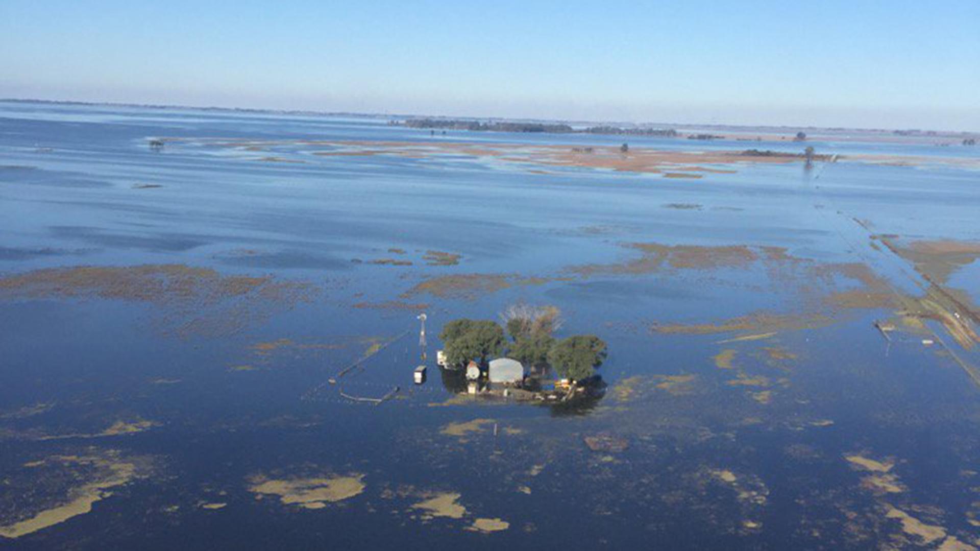 Imagen aérea de las inundaciones en Junín