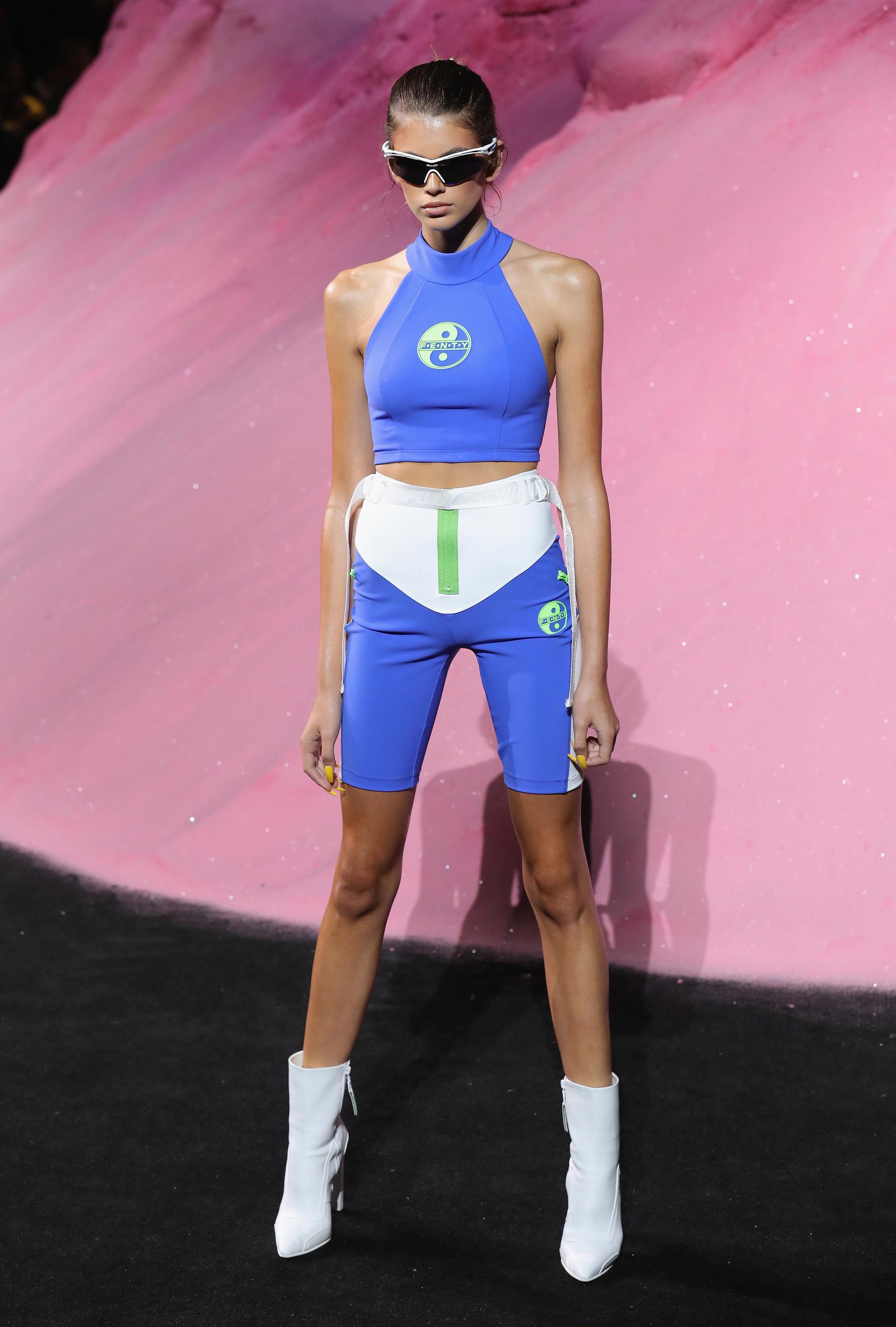 Kaia Gerber, la modelo centennial, fue otra vez elegida para participar del New York Fashion Week (JP Yim/Getty Images for FENTY PUMA By Rihanna)