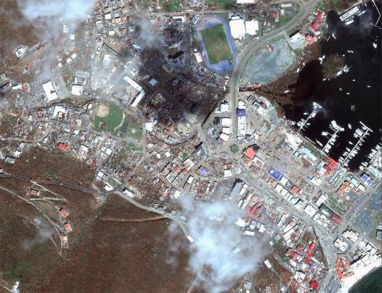 El antes y después en Road Town Tortola