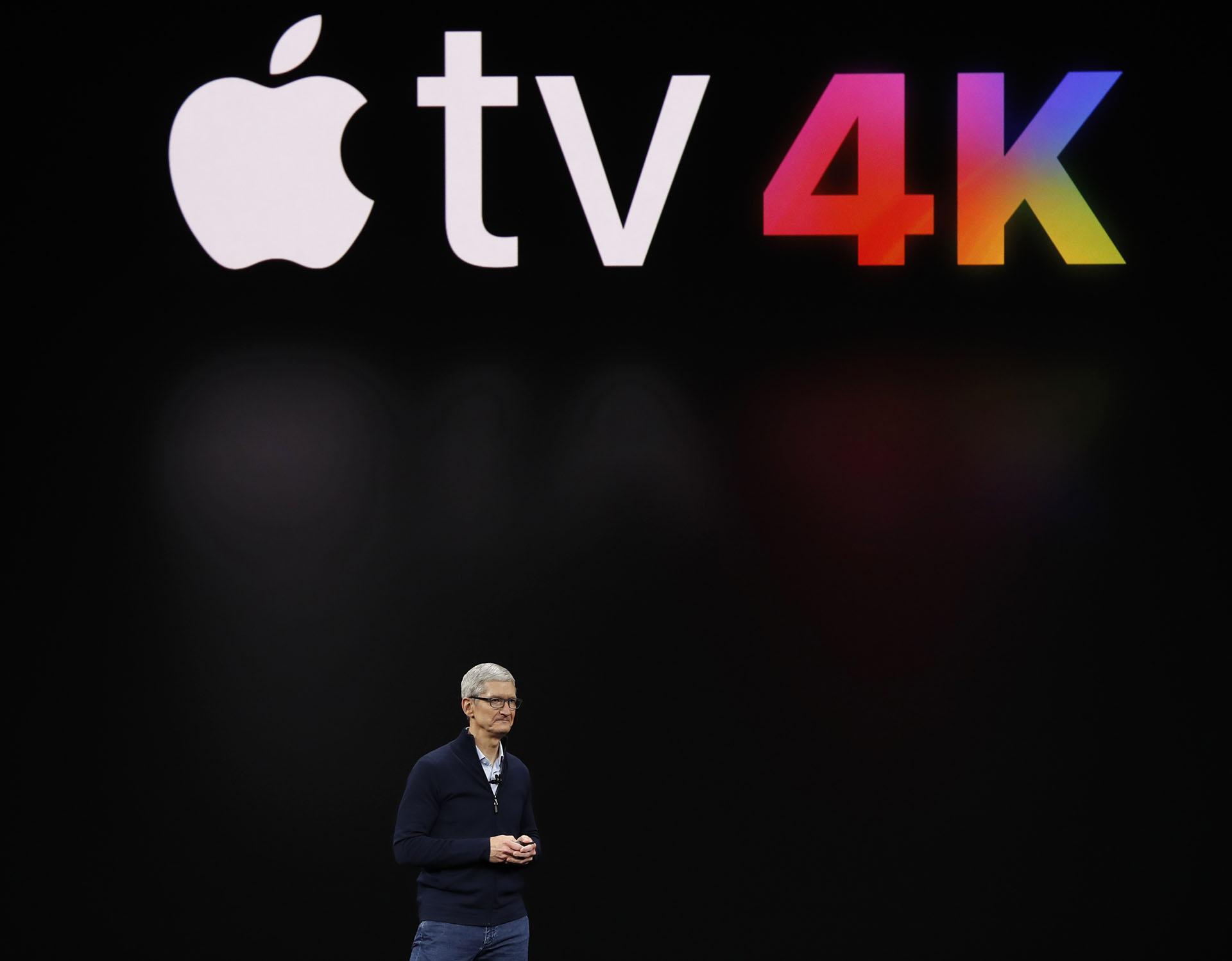 Tim Cook, el CEO de Apple, presentó la evolución de su receptor televisivoAppleTV, que contará con resolución 4K y tecnología HDR
