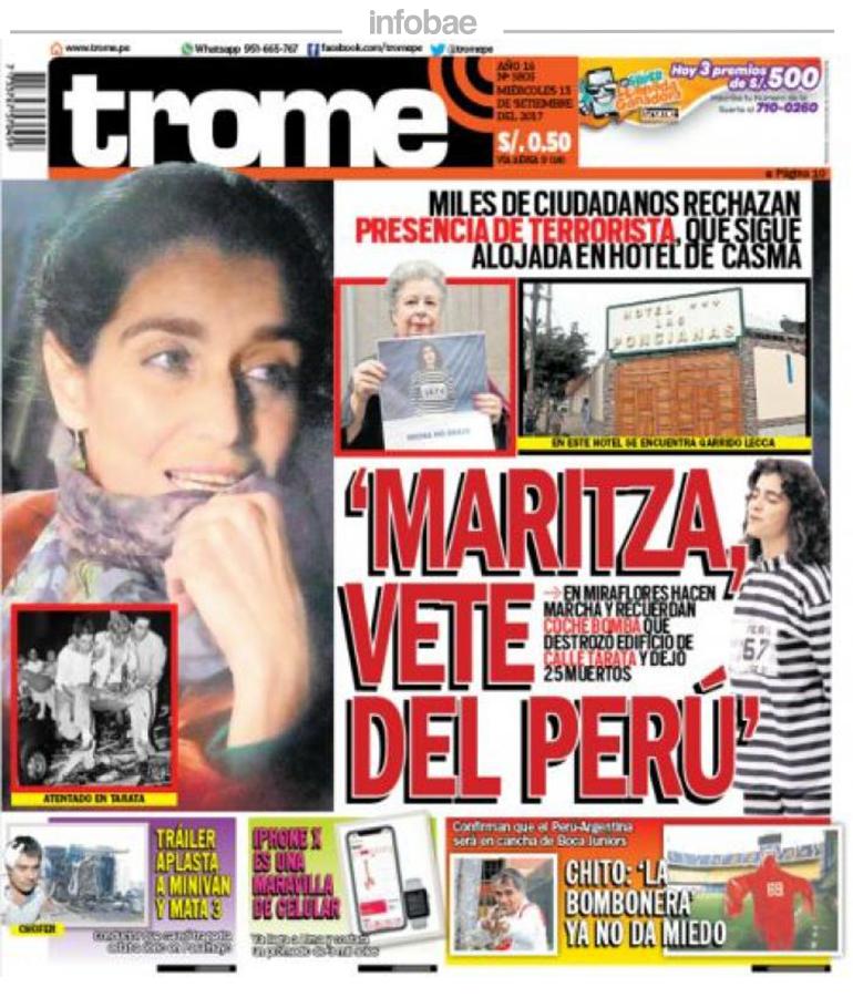 Trome Perú Miércoles 13 De Septiembre De 2017 Junín Al Minuto