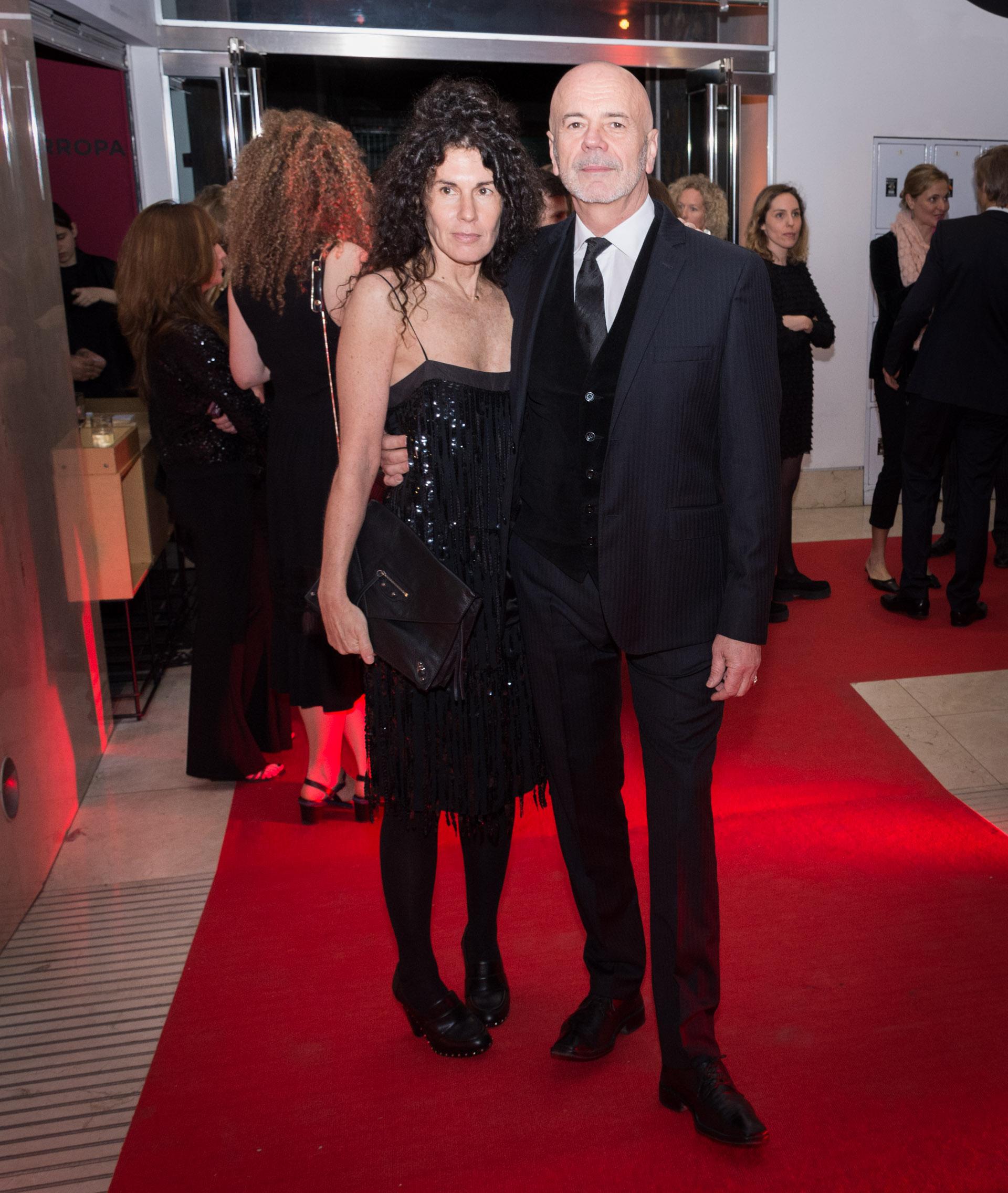 Jorge Telerman, director del Complejo Teatral de BuenosAires, y la artista plástica Cynthia Cohen