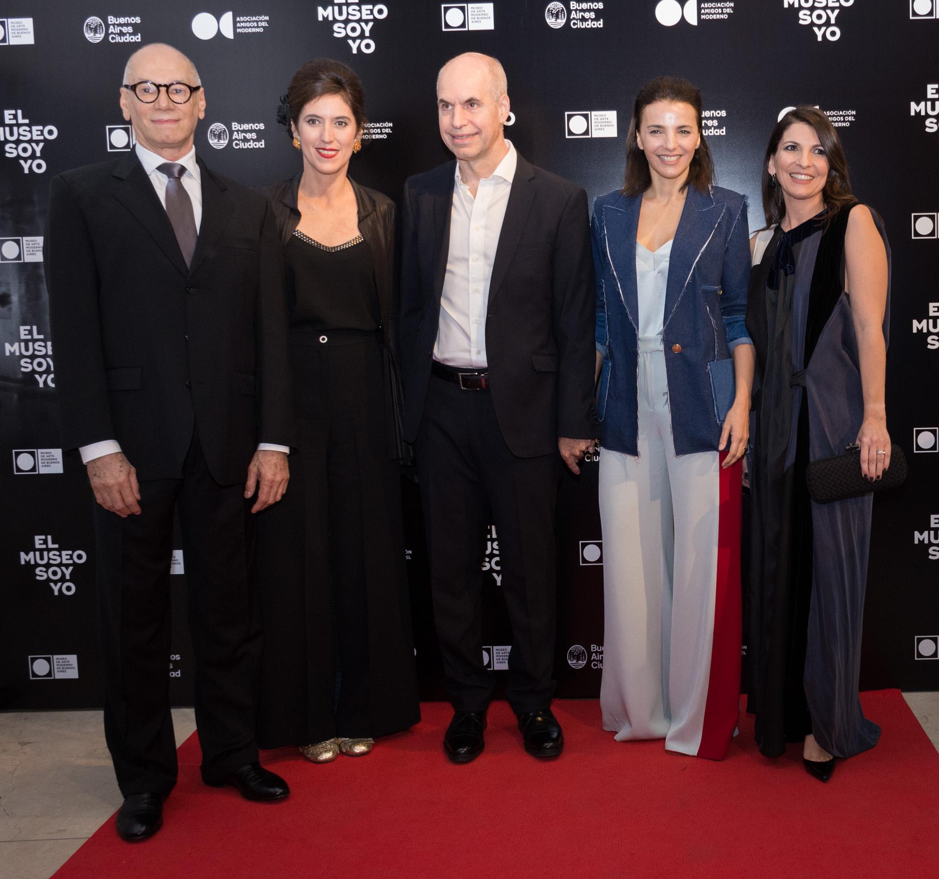 Abel Guaglianone, Victoria Noorthoorn, Horacio Rodríguez Larreta, Bárbara Diez y Larisa Andreani
