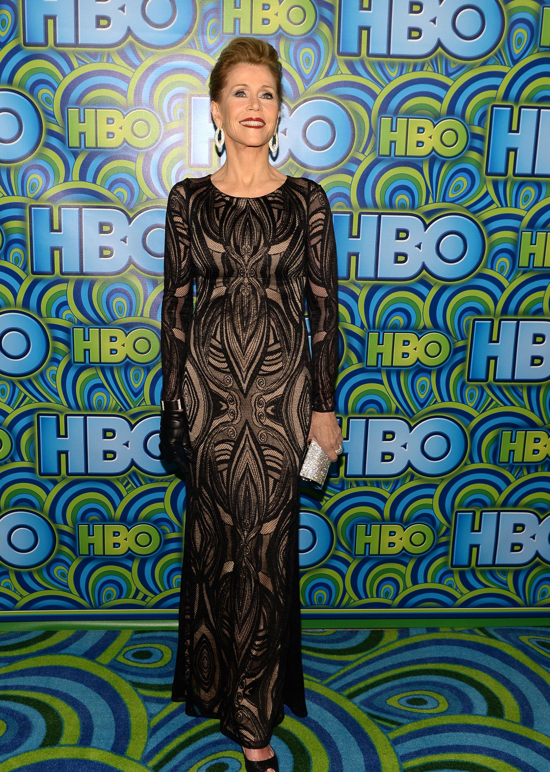La legendaria Jane Fonda, nominada como mejor actriz de comedia por Grace and Frankie, es una de las figuras más esperadas del evento por su estilo único a la hora de vestir ( Michael Buckner/Getty Images)