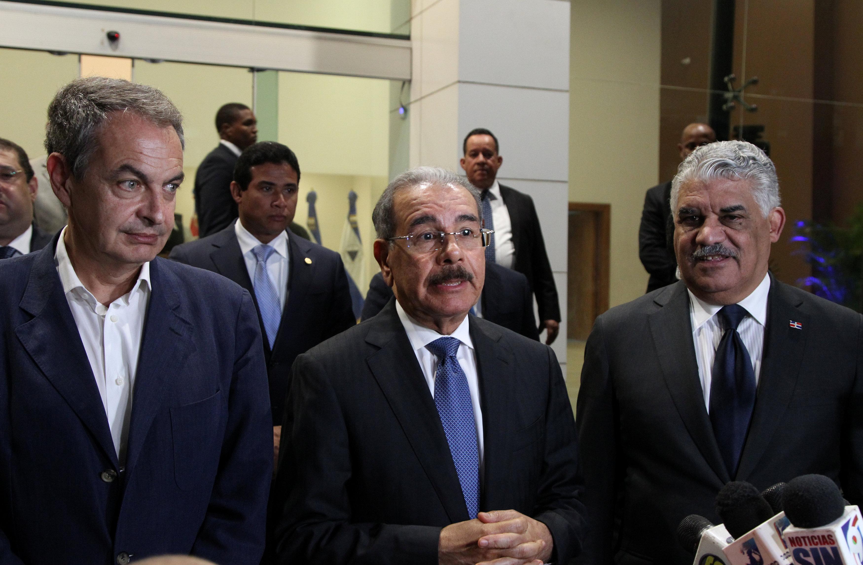 El diálogo fue impulsado por José Luis Zapatero y Danilo Medina(REUTERS)