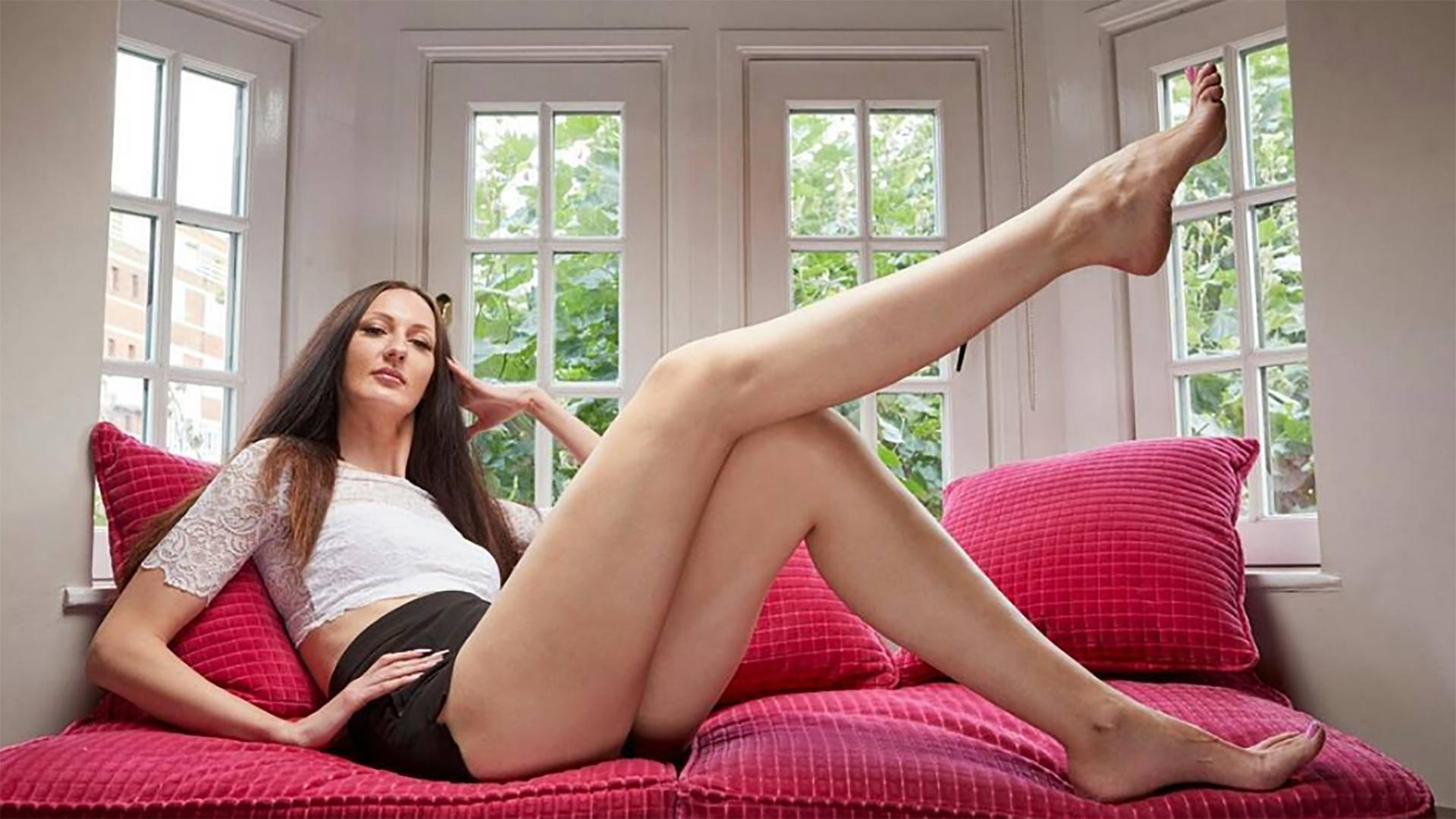 Actriz Porno Por Sin Piernas ekaterina lisina, la mujer con las piernas más largas del