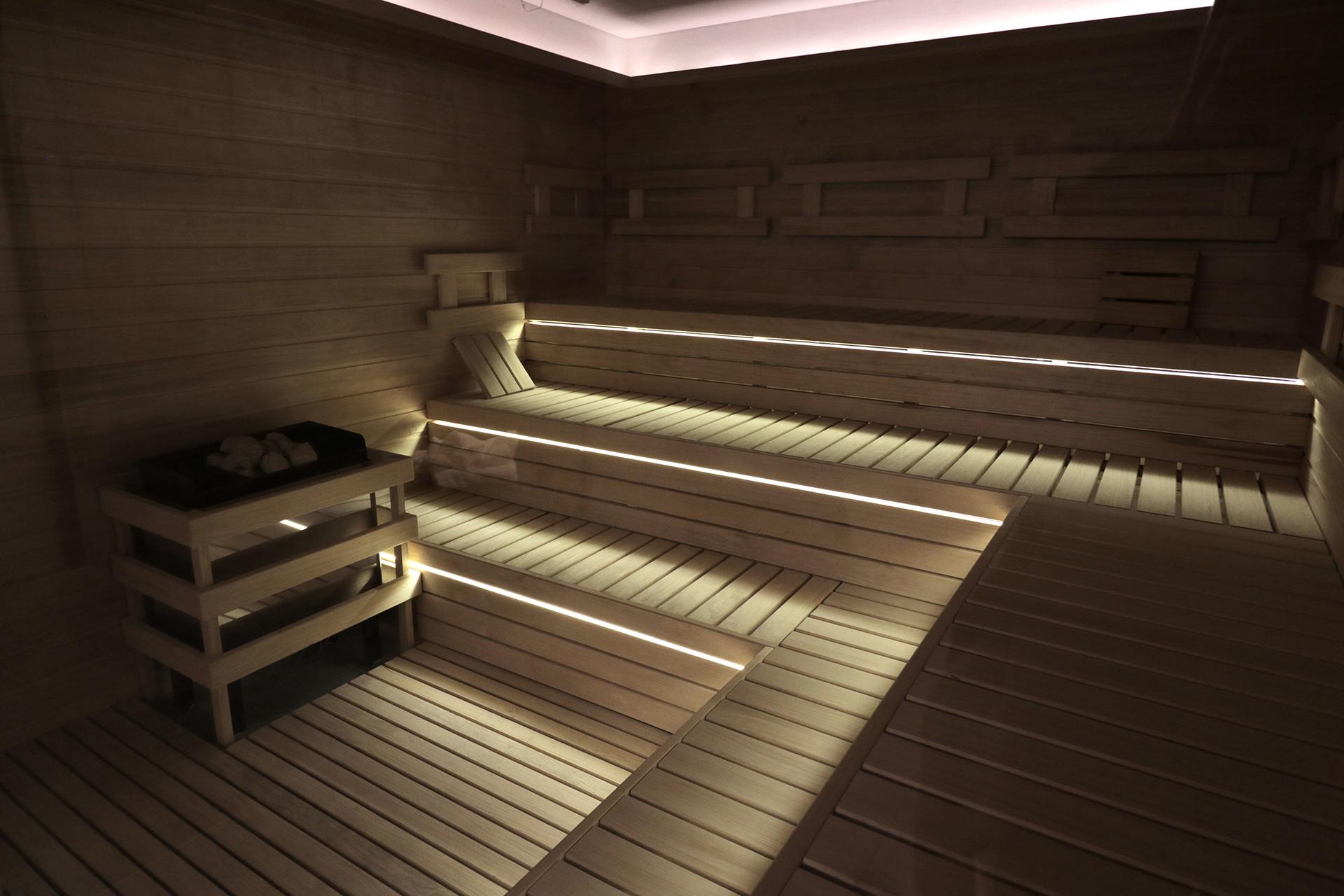 Así se ve el flamante sauna.