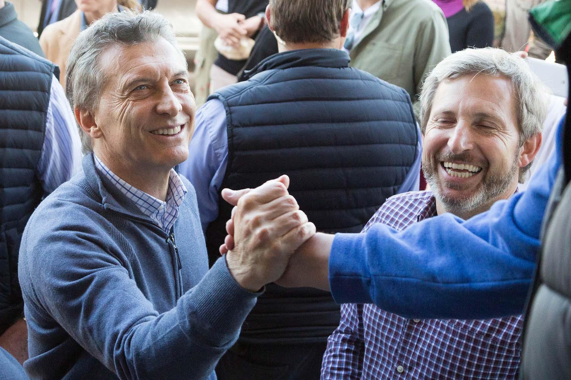 Macri estuvo acompañado por el ministro del Interior, Rogelio Frigerio