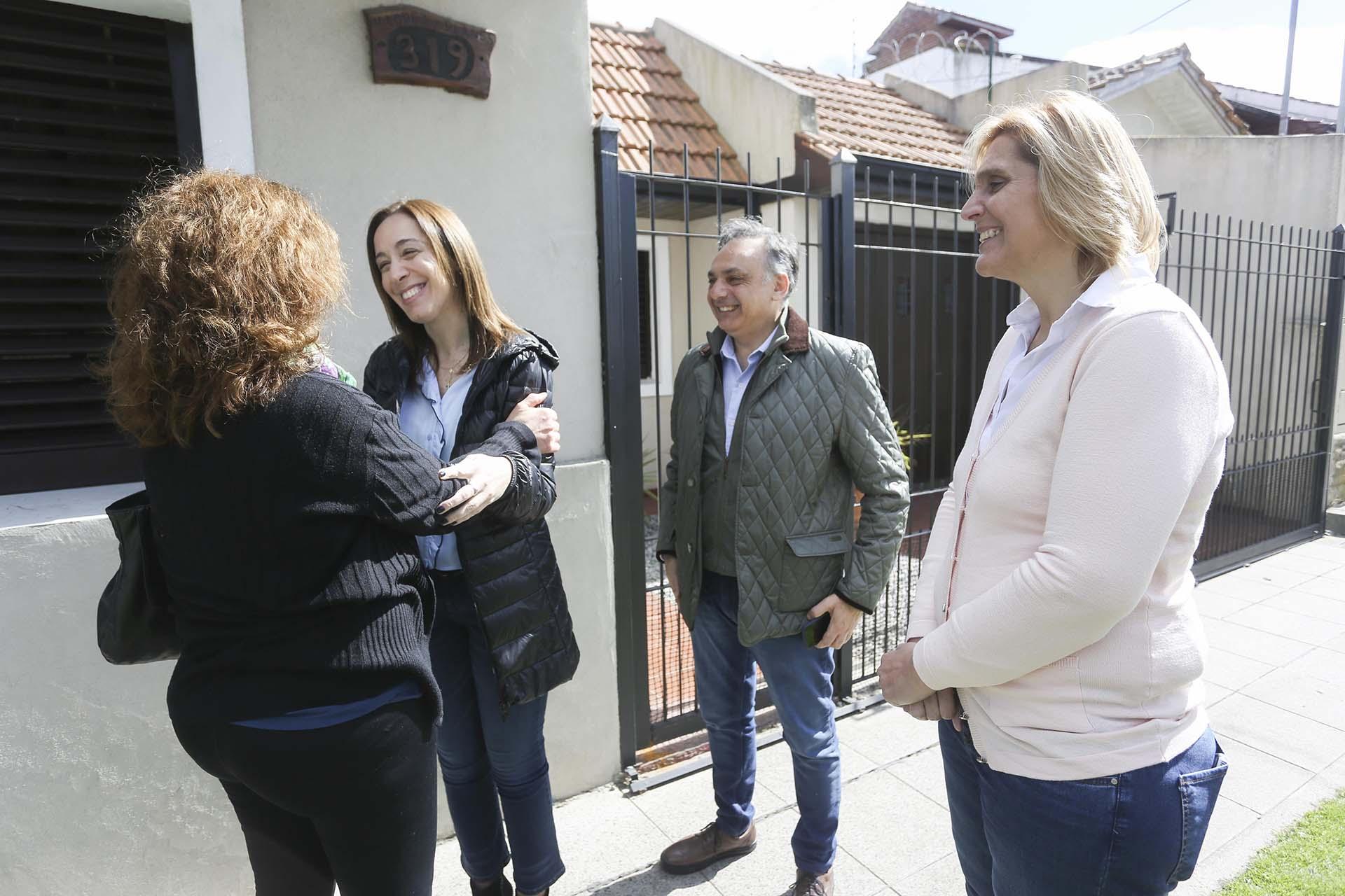 La gobernadora bonaerense, María Eugenia Vidal, encabezó el timbreo de Cambiemos en Mar del Plata