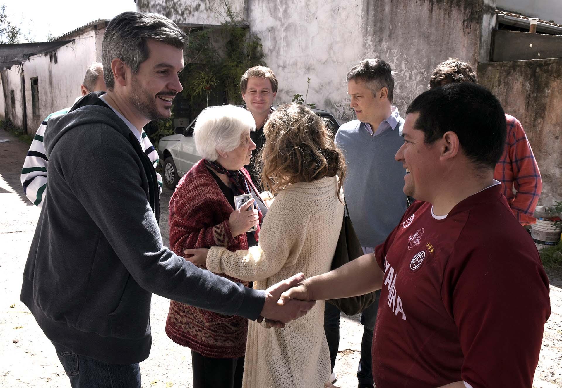 El jefe de Gabinete de la Nación, Marcos Peña, y el secretario general de la Presidencia, Fernando de Andreis, recorrieron el municipio bonaerense de San Fernando