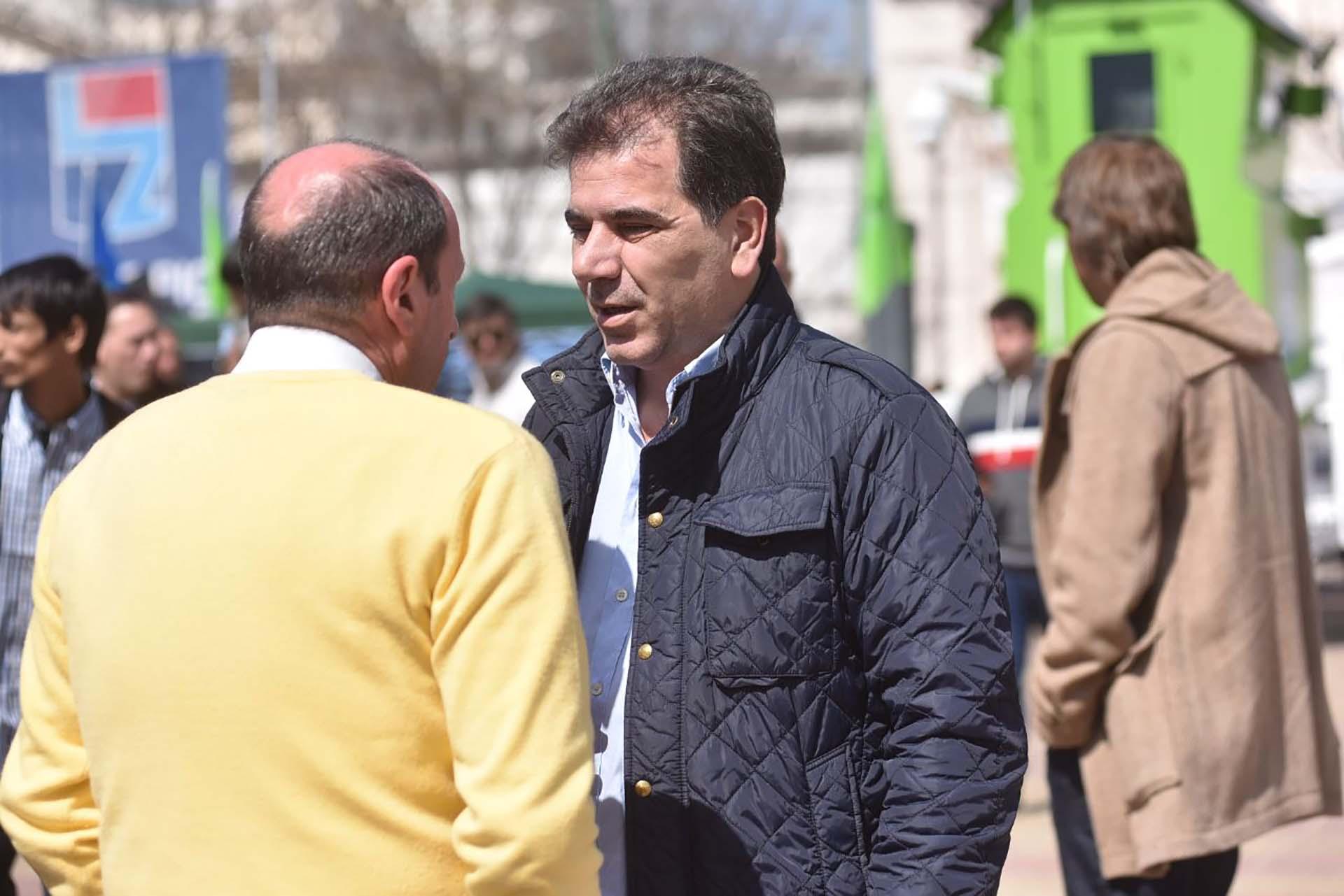 El ministro de Seguridad bonaerense, Cristian Ritondo, recorrió el distrito de Lomas de Zamora