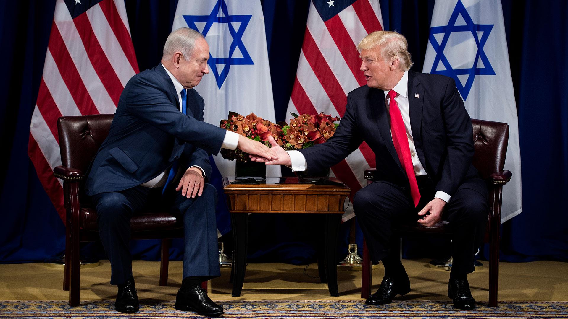El primer ministro israelí, Benjamin Netanyahu, junto al presidente Donald Trump (AFP)