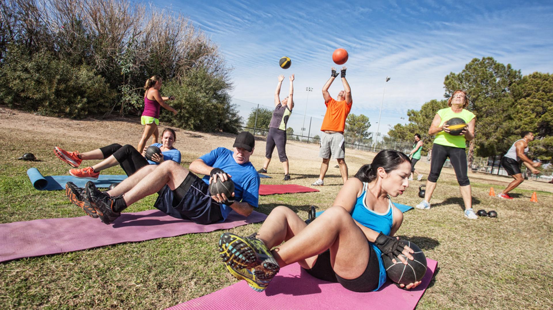 Los espacios públicos porteños funcionan como un gimnasio al aire libre
