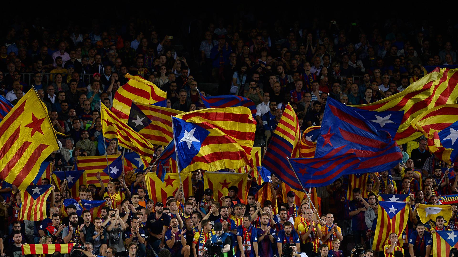 La semana pasada se anunció la prohibición de banderas catalanas en la final de la Copa del Rey(AFP)