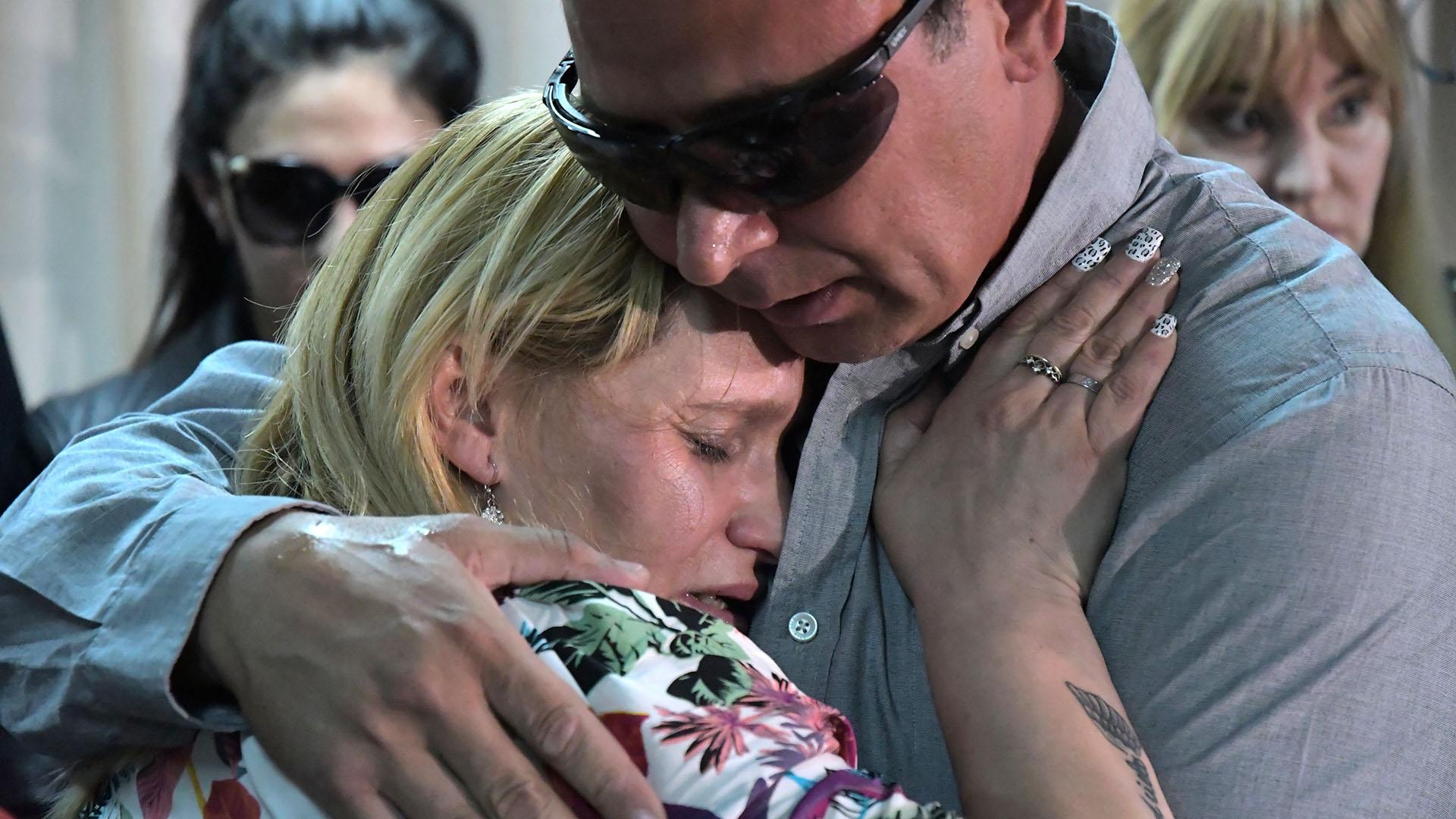 """Carola Labrador y """"Juancho"""" Rodríguez, los padres de Candela (Telam)"""