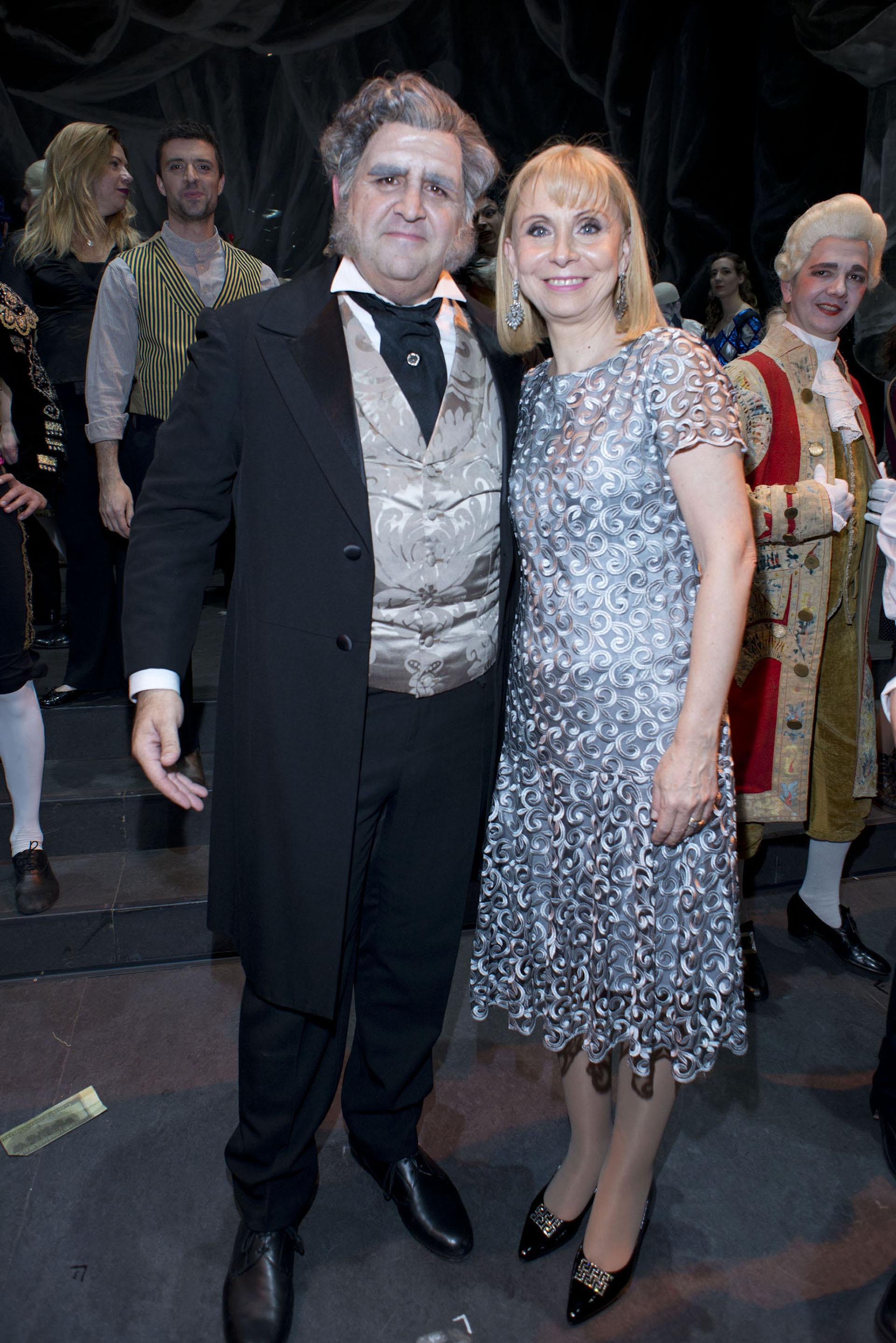 El barítono Fabián Veloz y María Victoria Alcaraz