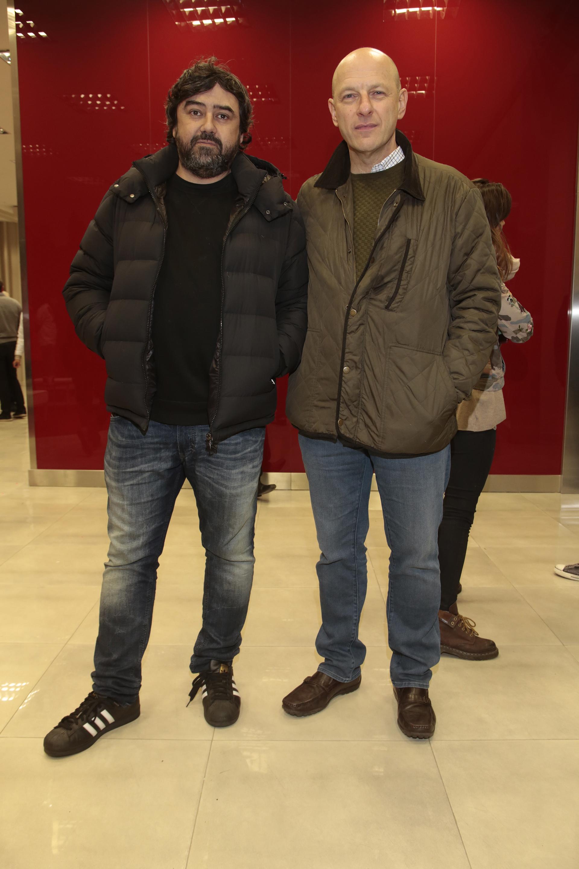 El productor Juan Cruz Ávila y el analista político Sergio Berensztein