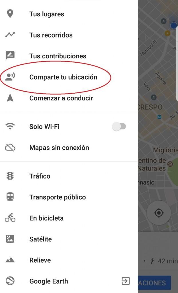 Google Maps compartir ubicacion 1