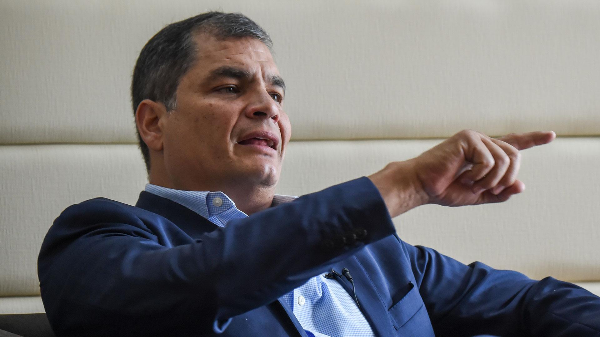 Rafael Correa fue el gran perdedor de la consulta popular. Tras su breve paso por Ecuador, retornó a Bélgica donde está radicado (AFP)
