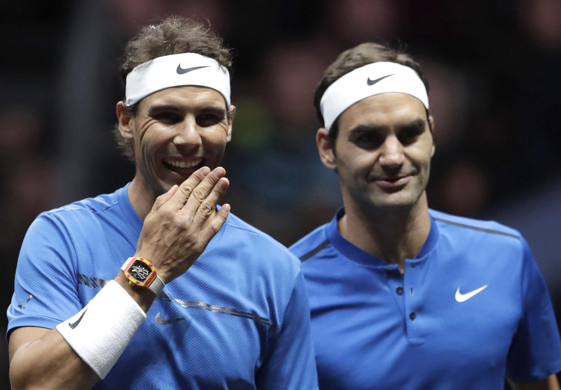 John McEnroe y su hermano Patrick soncapitán y ayudante, respectivamente, del conjunto de tenistas del mundo.