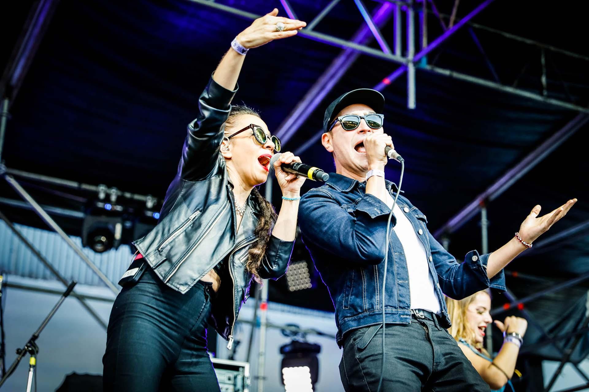 La cantante Miss Bolivia ofreció un show en el festival
