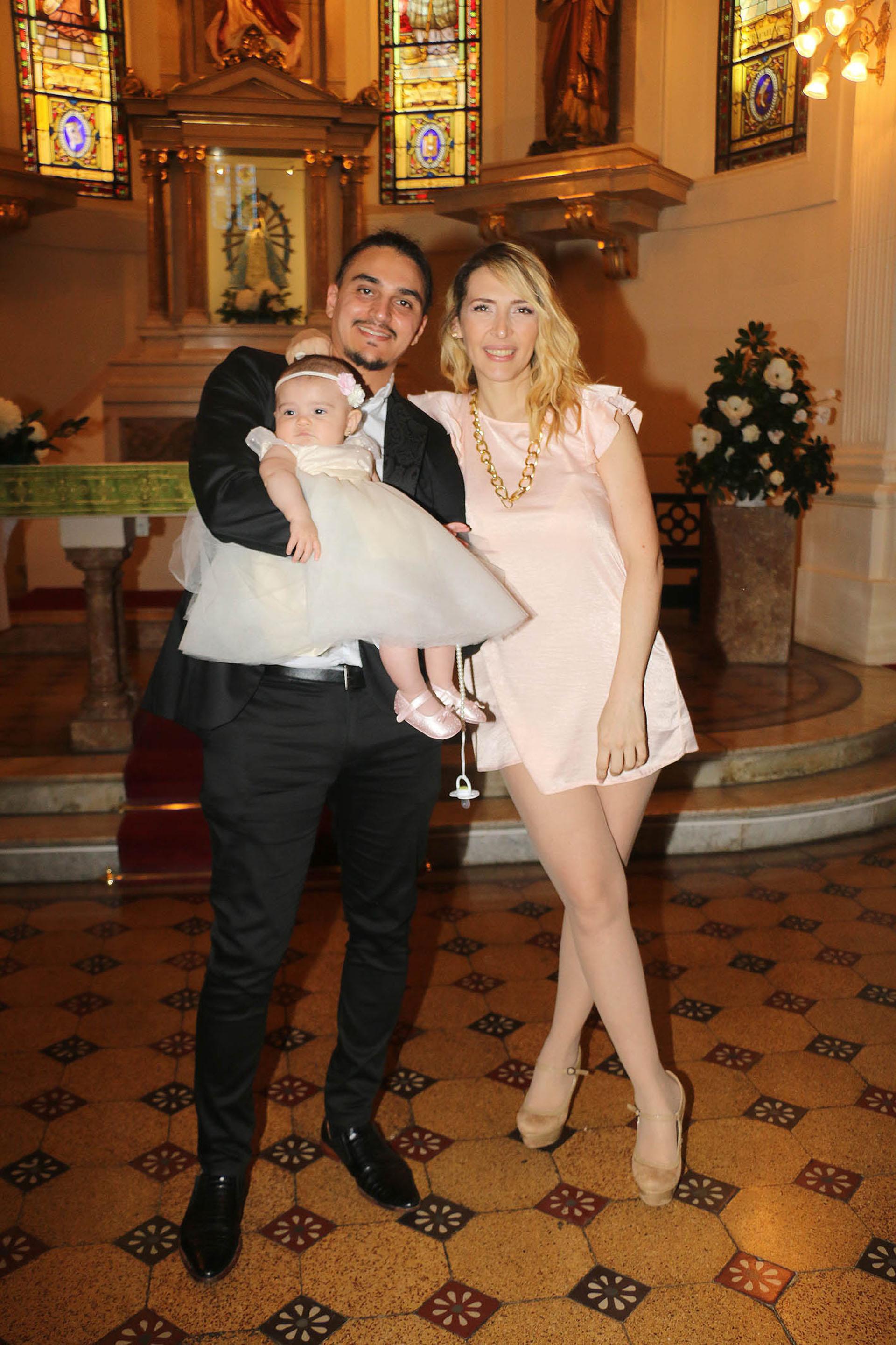 La vedette y el bailarín y coreógrafo bautizaron a su hija
