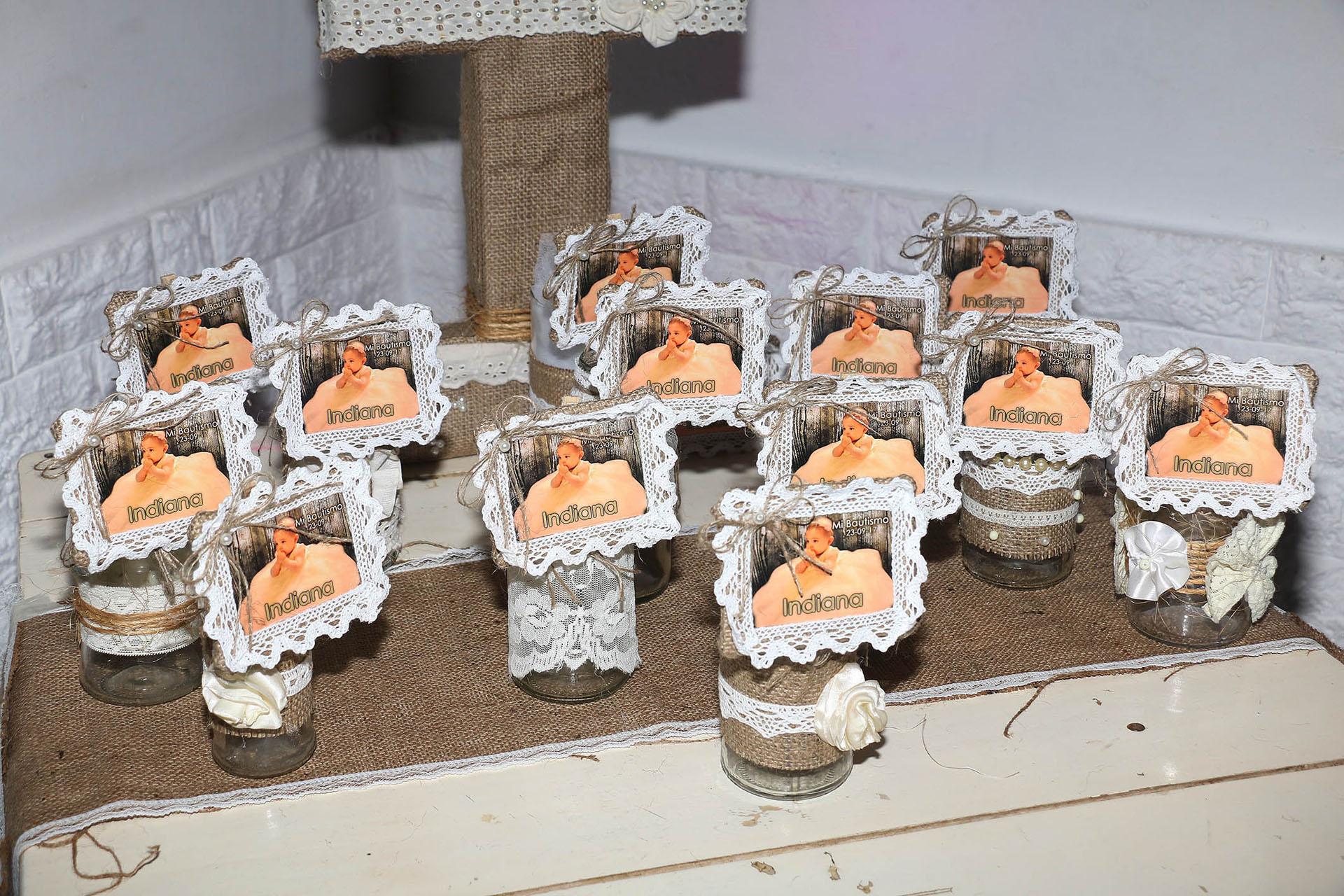 Los souvenirs del bautismo (Crédito: Verónica Guerman / Teleshow)