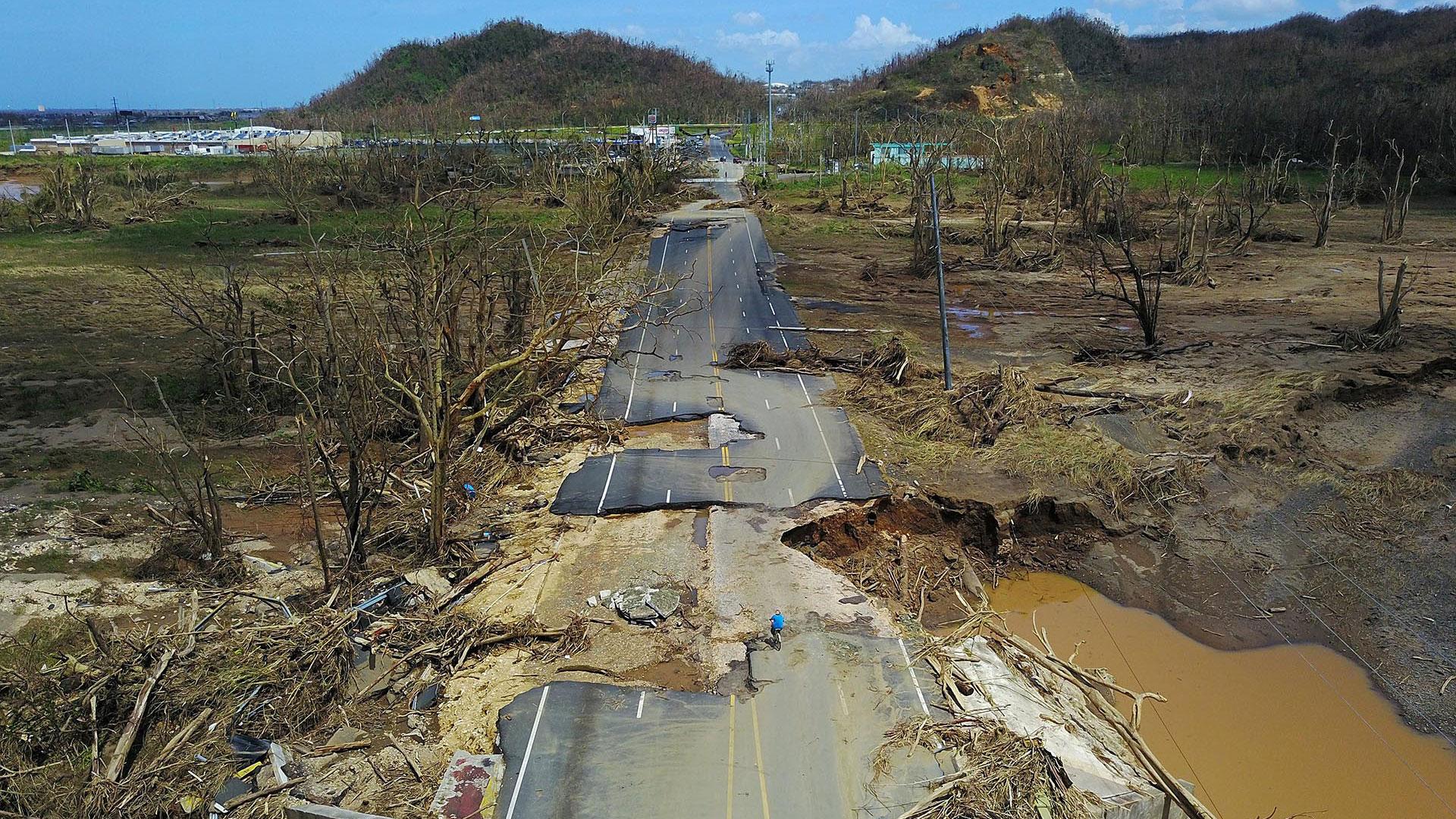 La presa de Guajataca resulta dañada por el huracán María — Puerto Rico