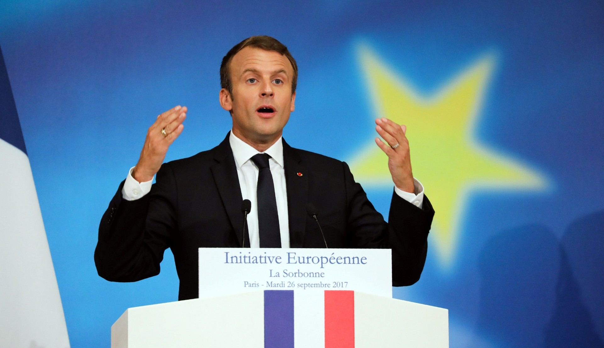 El presidente francés Emmanuel Macron (REUTERS/Ludovic Marin/Pool)
