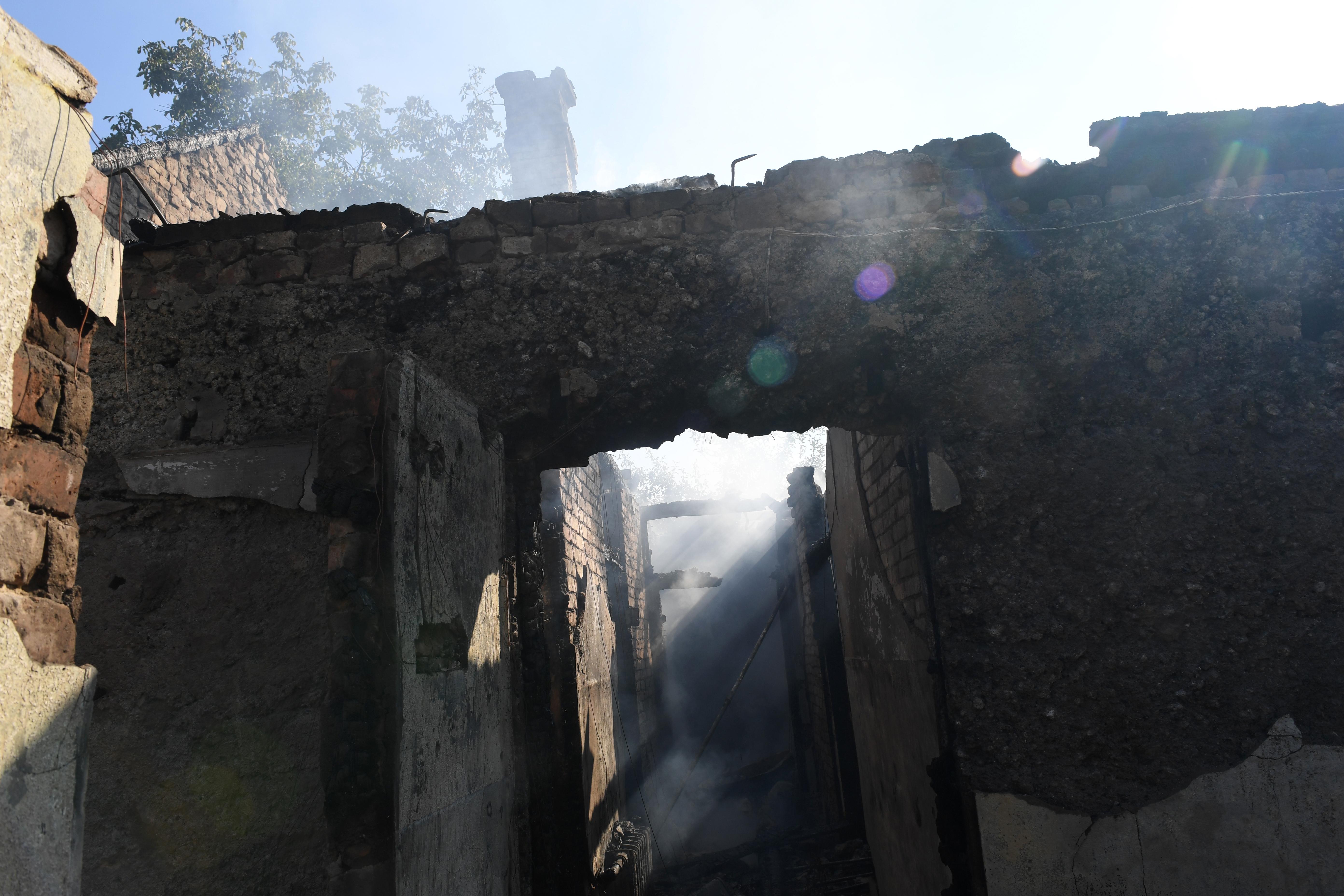 La destrucción en la pequeña ciudad de 19.000 habitantes fue muy importante (AFP)