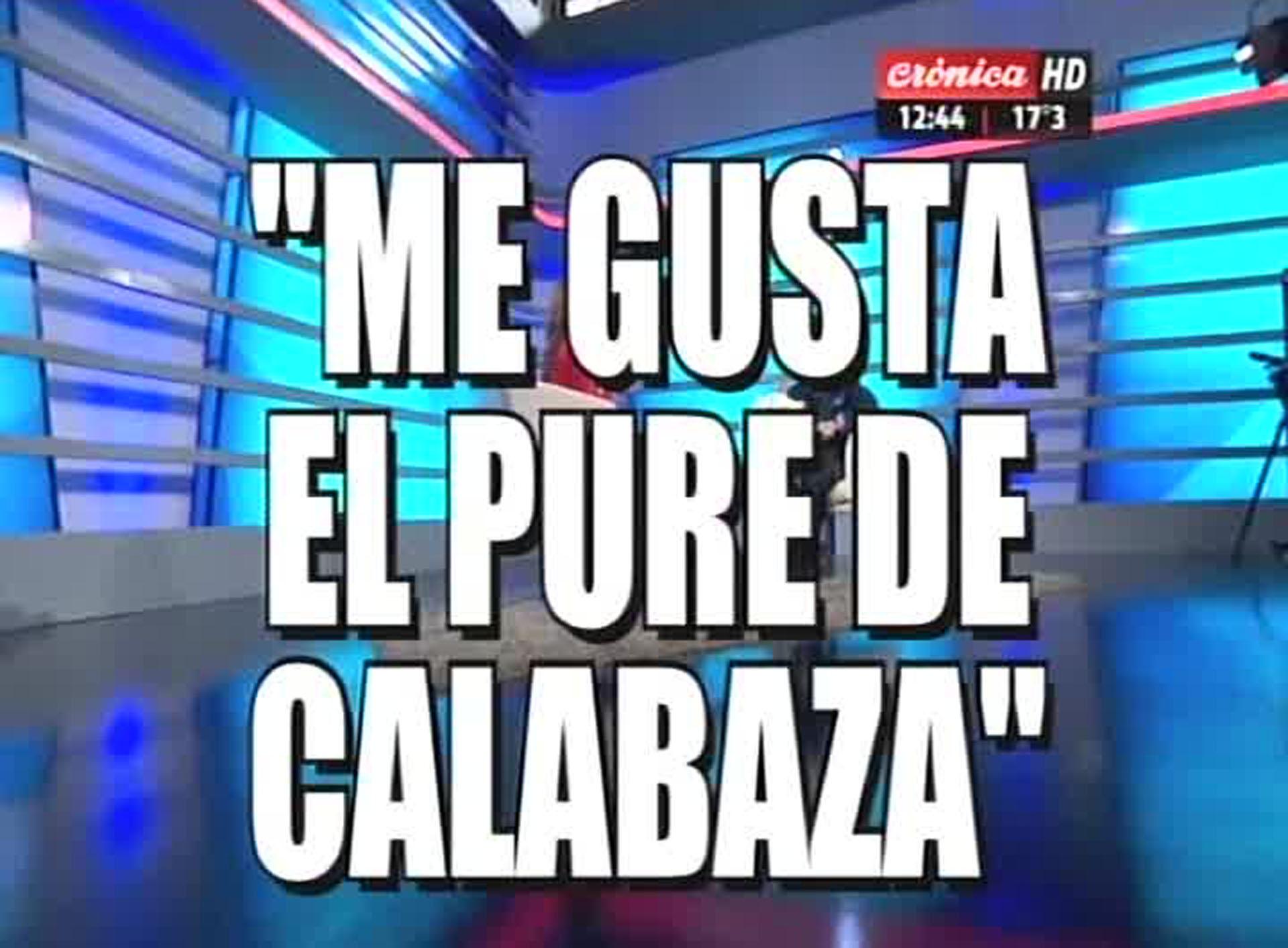 Placa de Crónica TV sobre la visita de Cristina Kirchner al canal