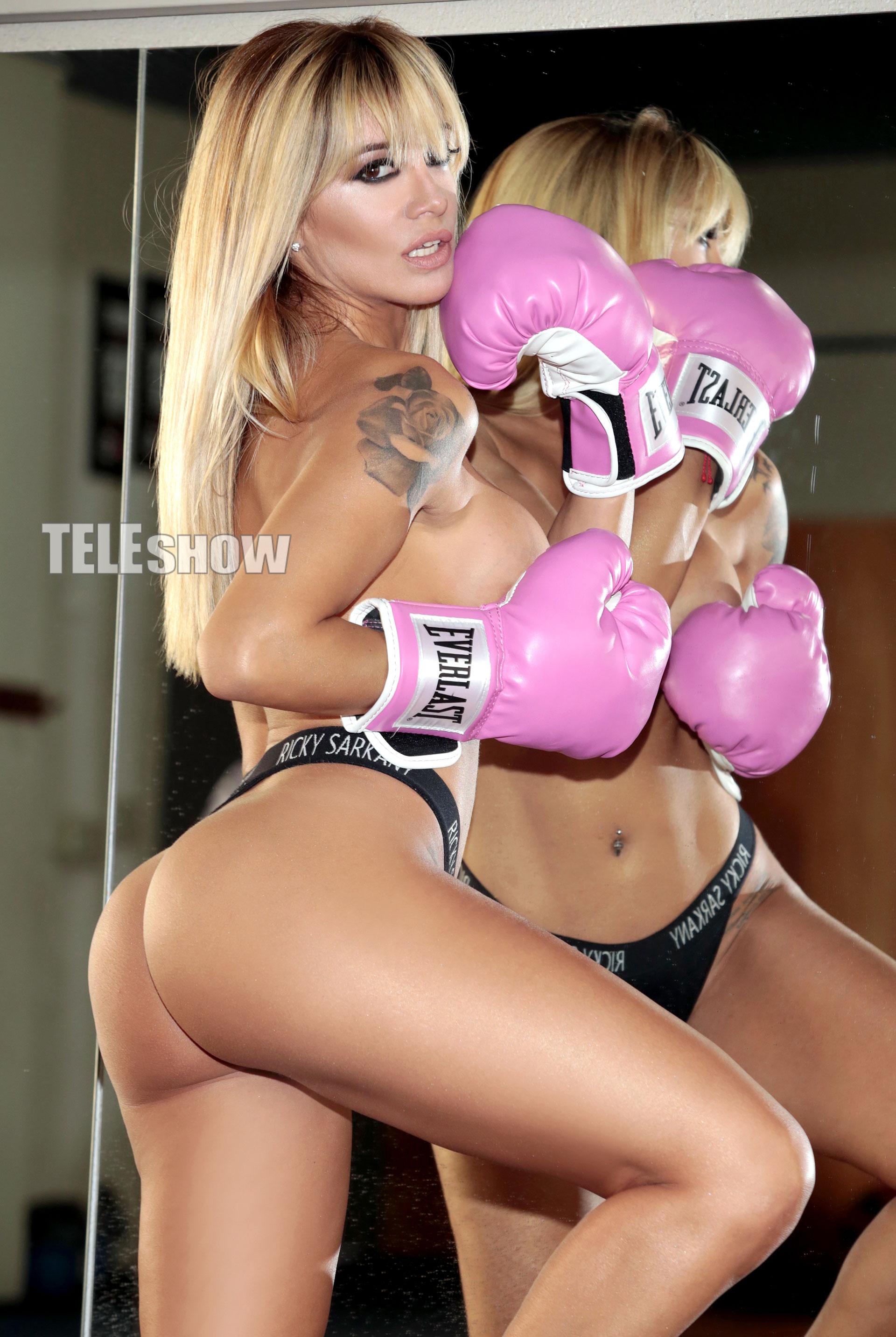 """""""Me gusta el entrenamiento de boxeo porque es súper completo"""", contó Claudia"""